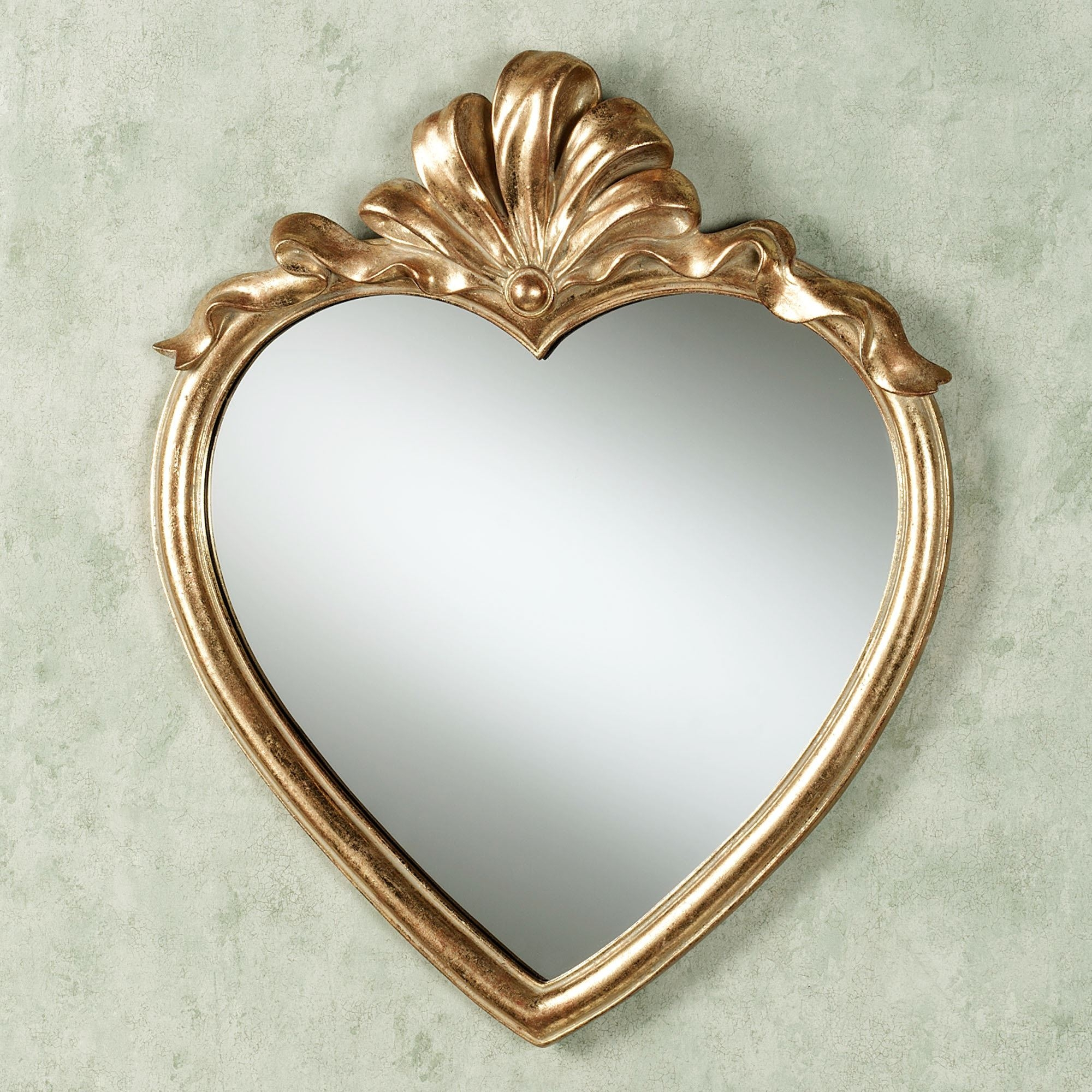 Bathroom Wall Mirrors Throughout Heart Wall Mirror (Image 3 of 15)