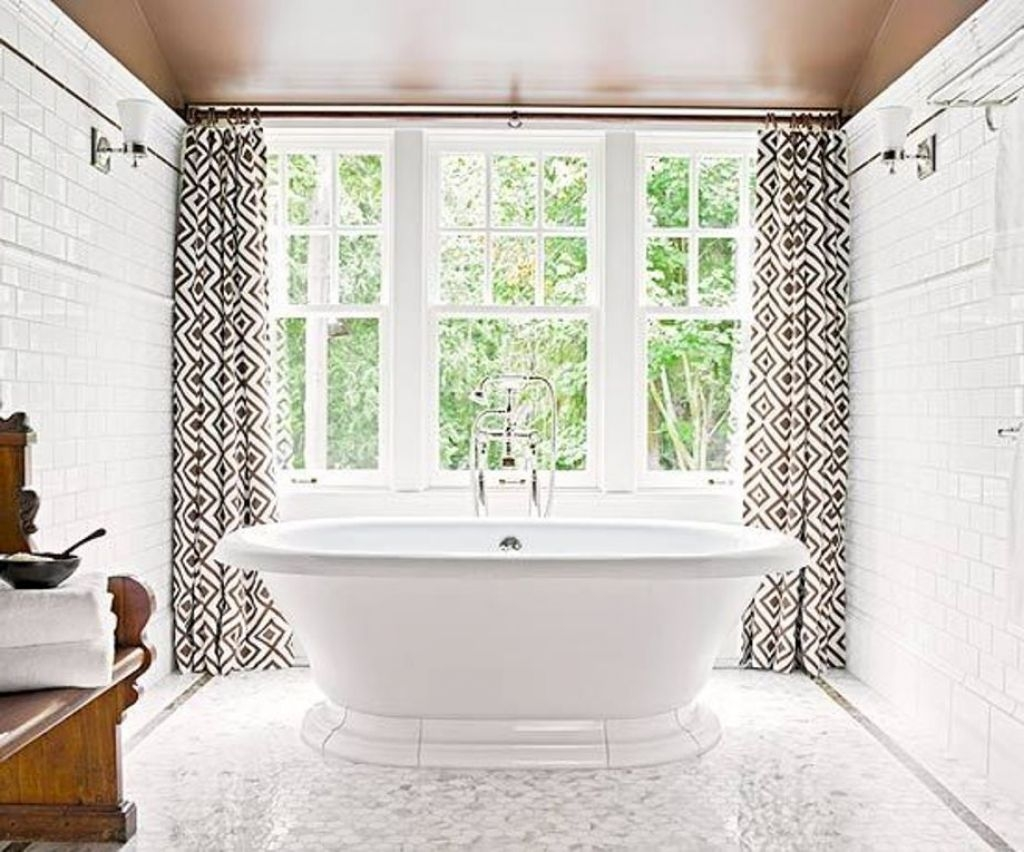 Bathroom Window Curtains Style Inspiration Home Designs Regarding Curtains For Bathrooms Windows (Image 6 of 15)