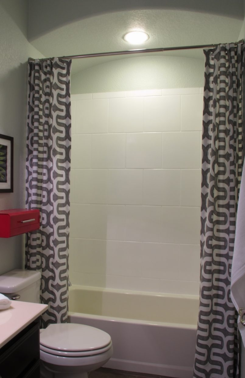 Bathrooms Stall Shower Curtain Shower Stall Curtains Shower Intended For Extra Long Red Curtains (Image 2 of 15)