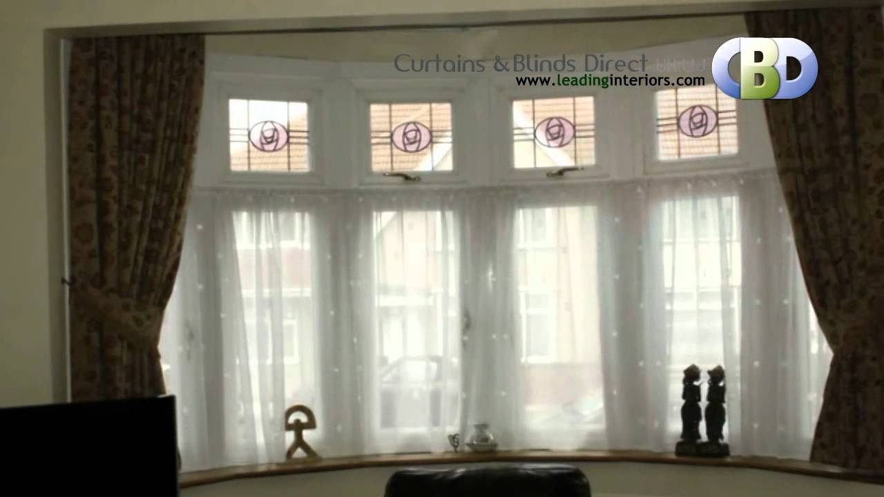 Bay Window Curtains At Wwwleadinginteriors Youtube In Bay Window Blinds And Curtains (Image 4 of 15)