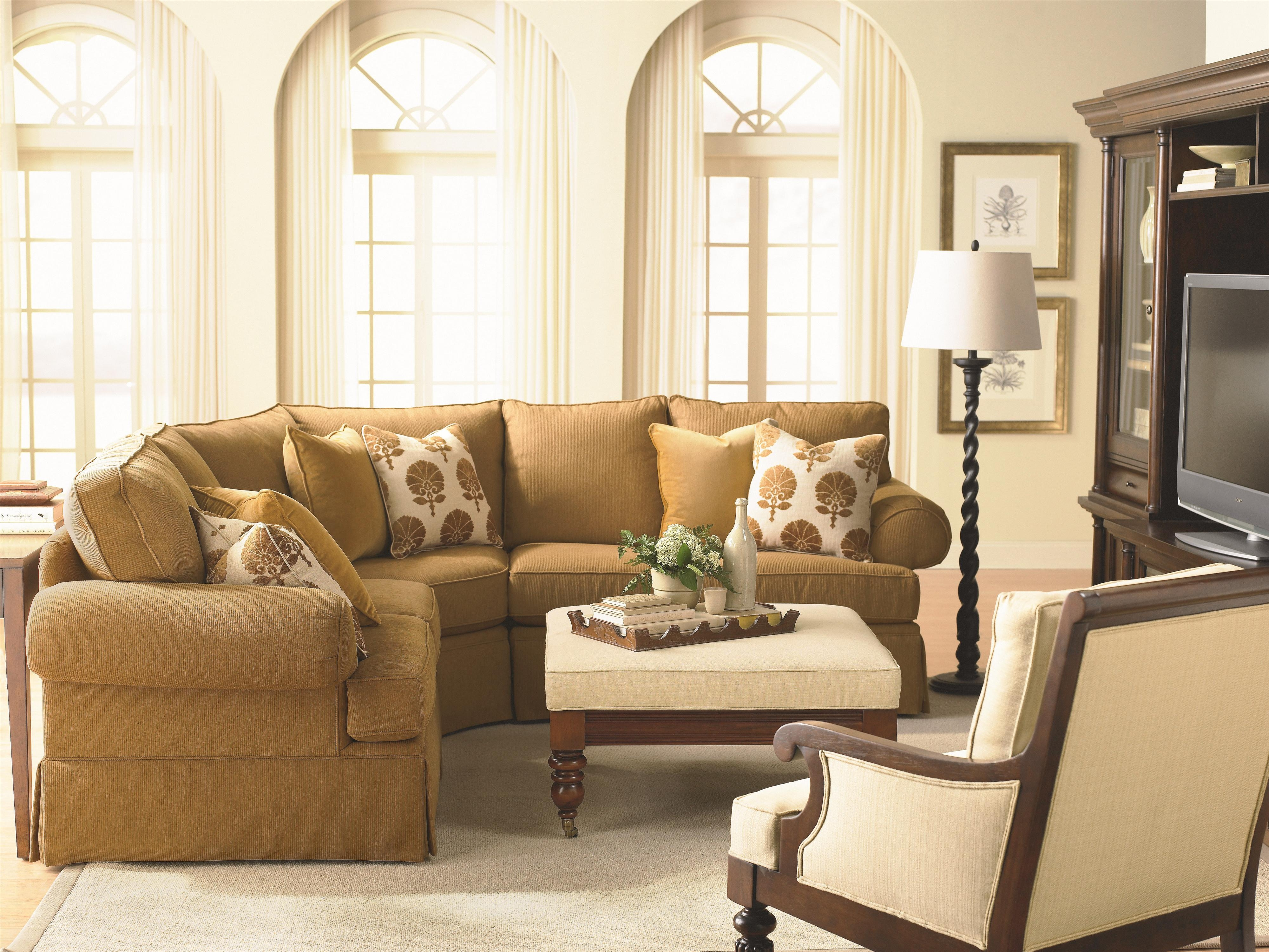 Bcustomizableb 2 Pc Sectional With Laf Chaise Panel Arms And For Bassett Sectional Sofa (Image 6 of 15)