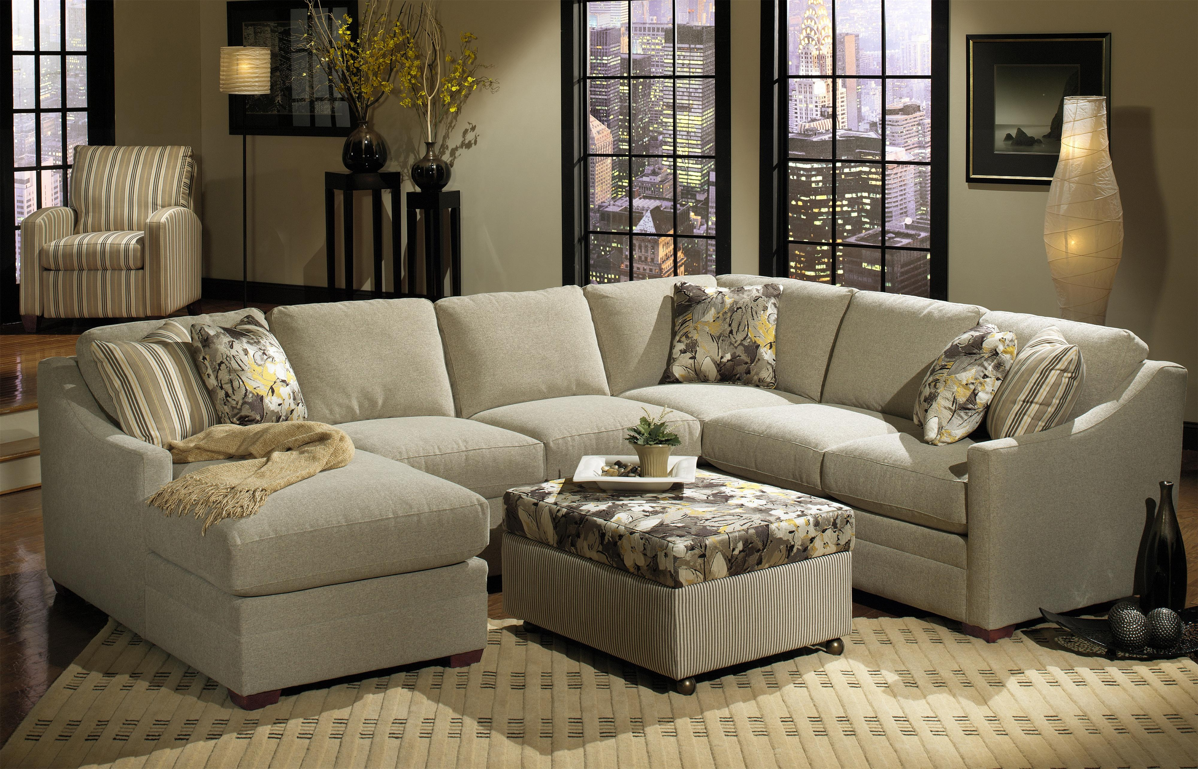 Bcustomizableb 3 Piece Sectional With Raf Sofa W Return Intended For Craftmaster Sectional Sofa (Image 3 of 15)