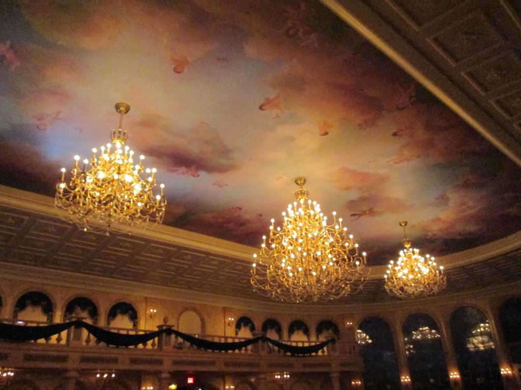 Be Our Guest Restaurant Chandelier Renthegodofhumor On Deviantart Throughout Restaurant Chandelier (Image 1 of 15)