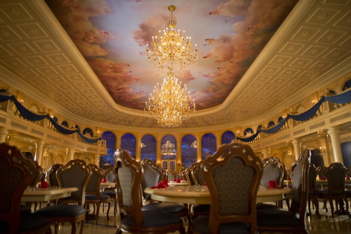 Be Our Guest Restaurant Open For Breakfast Until July 18 2015 For Restaurant Chandeliers (View 15 of 15)