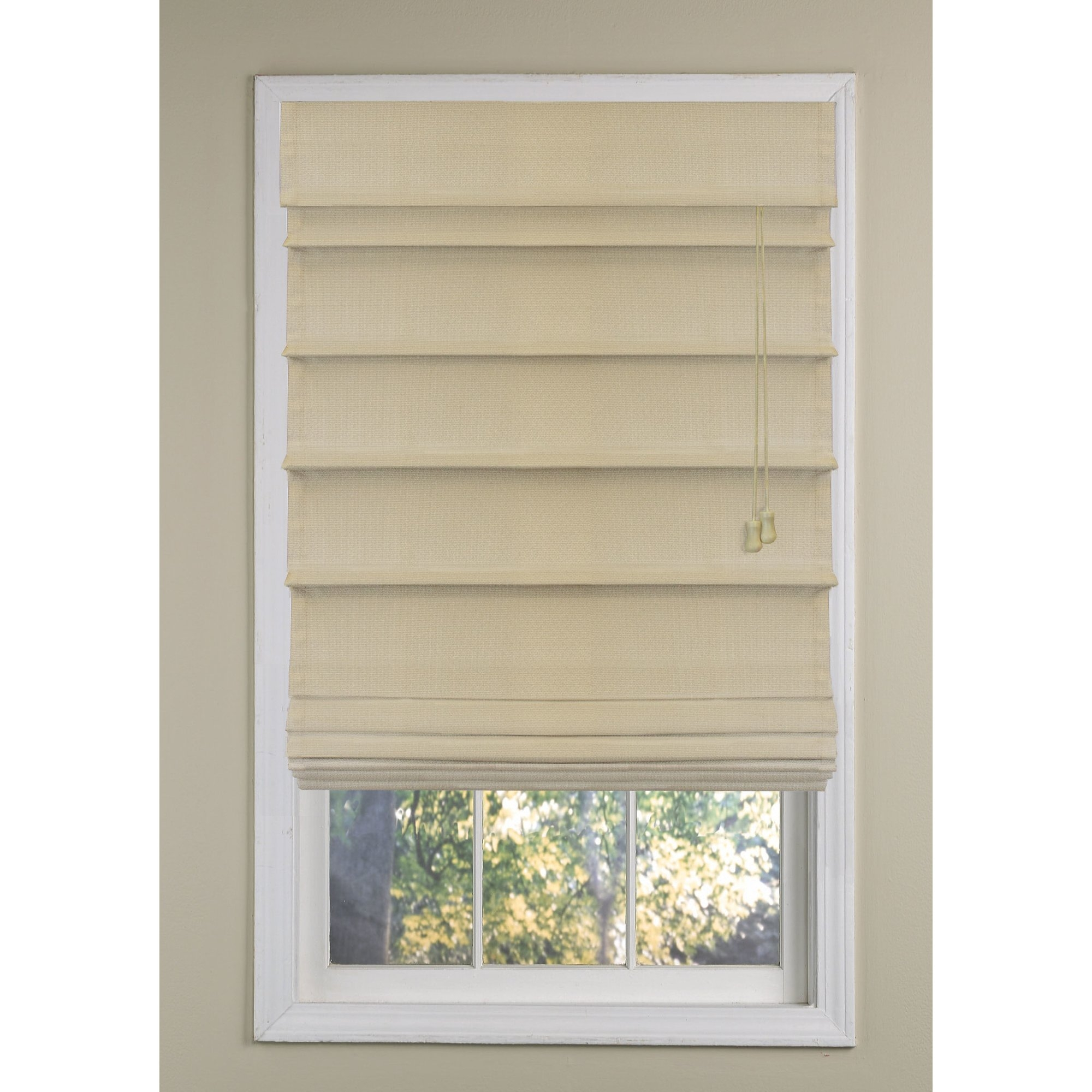 Beachcrest Home Roman Shade Reviews Wayfair Within Neutral Roman Blinds (View 14 of 15)