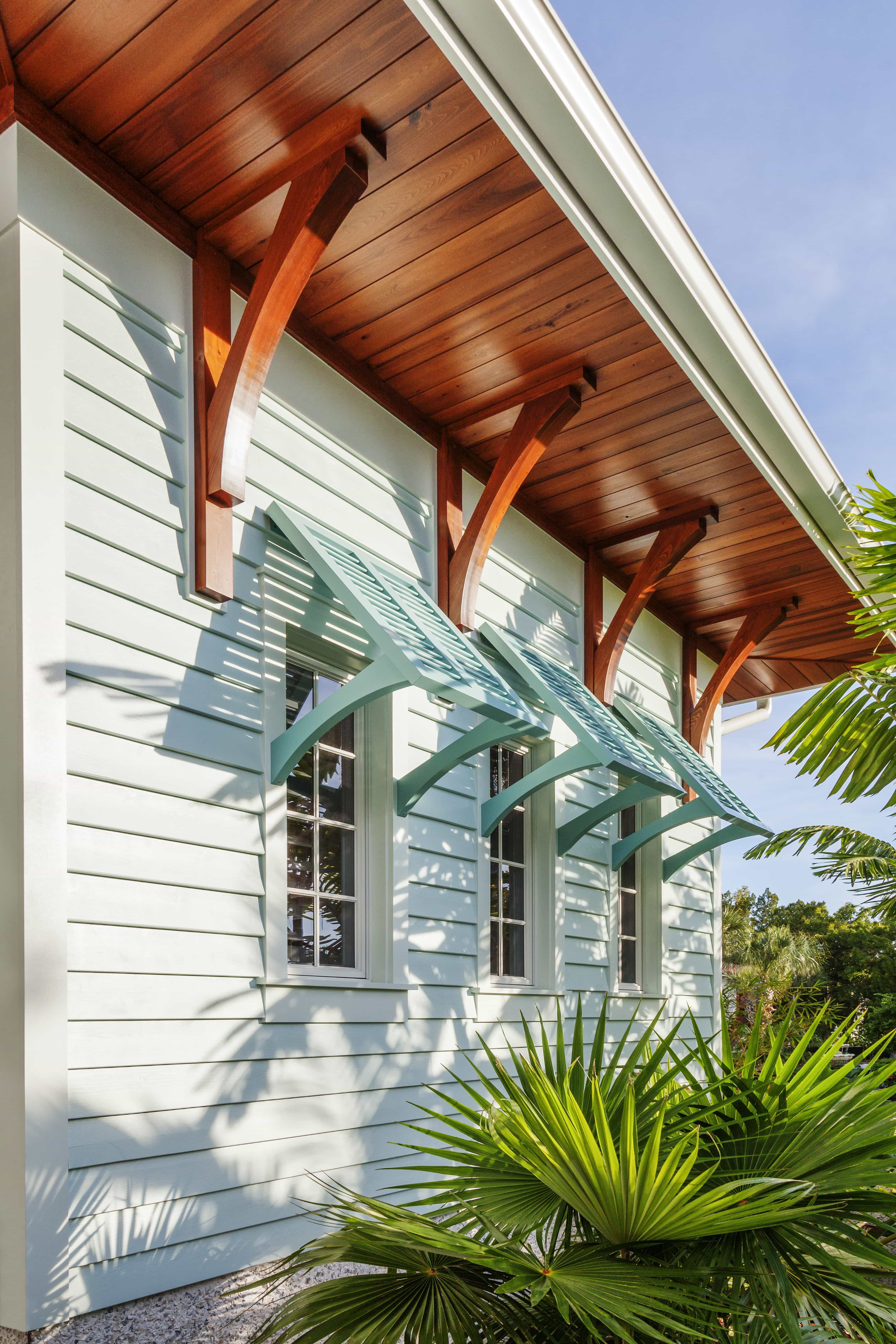 Beautiful Horizontal Siding And Colorful Bahama Shutters Color Combination (View 1 of 8)