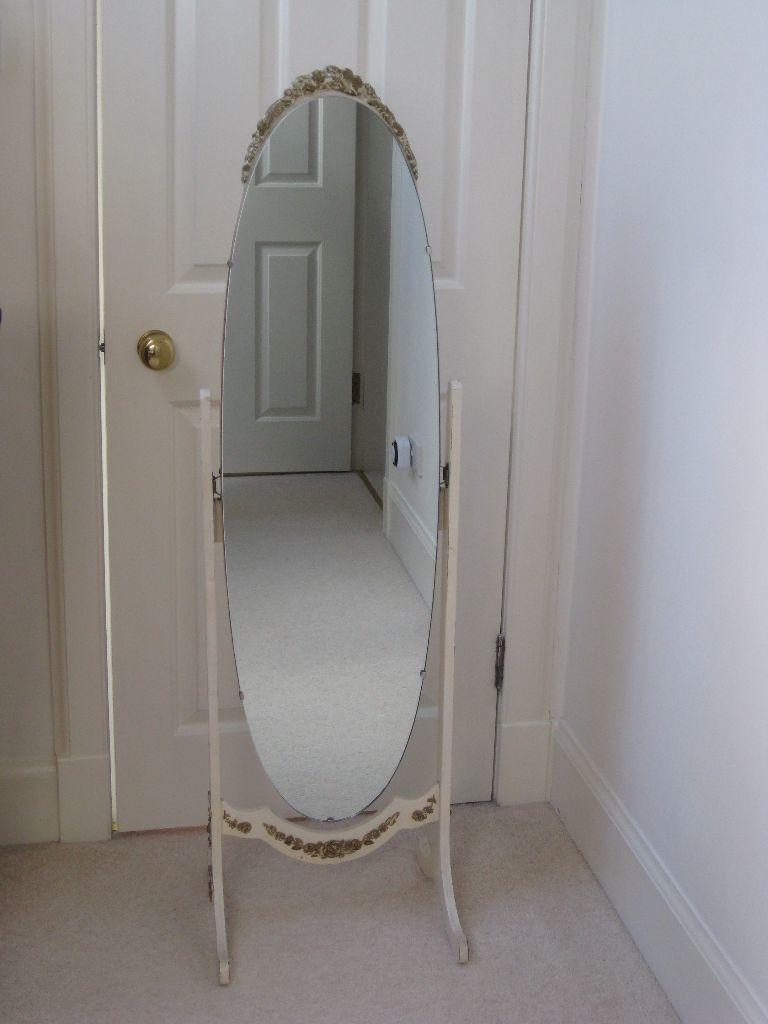 Beautiful Full Length Free Standing Vintage Mirror 1940s With Vintage Free Standing Mirror (Image 6 of 15)