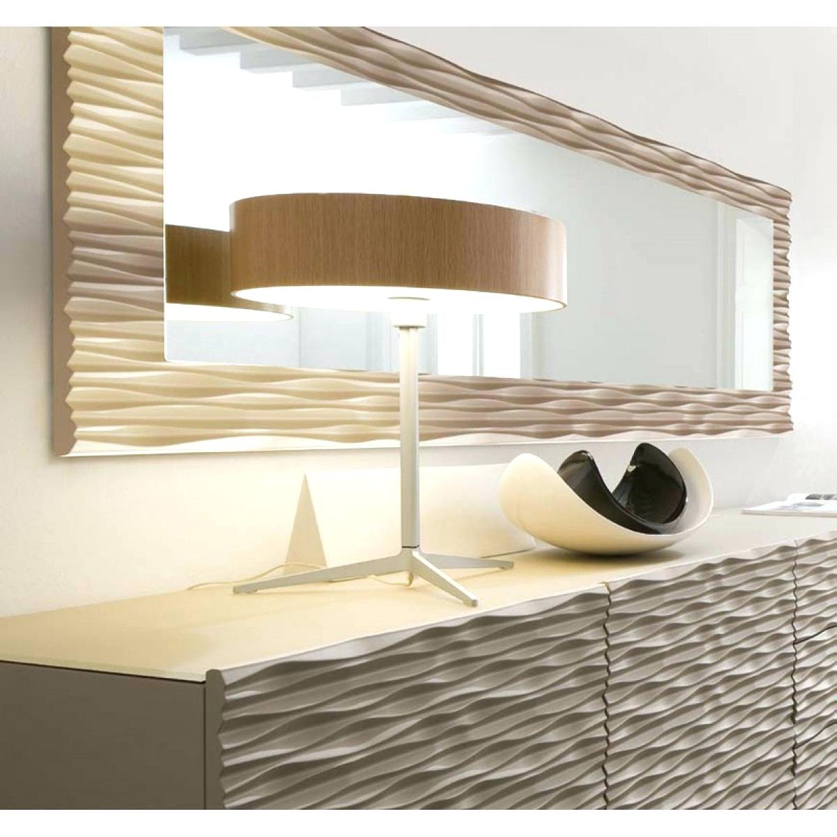 Beautiful Large Wall Mirror Home Decor Mirrors Modern Makeup Throughout Modern Large Mirrors (Image 2 of 15)