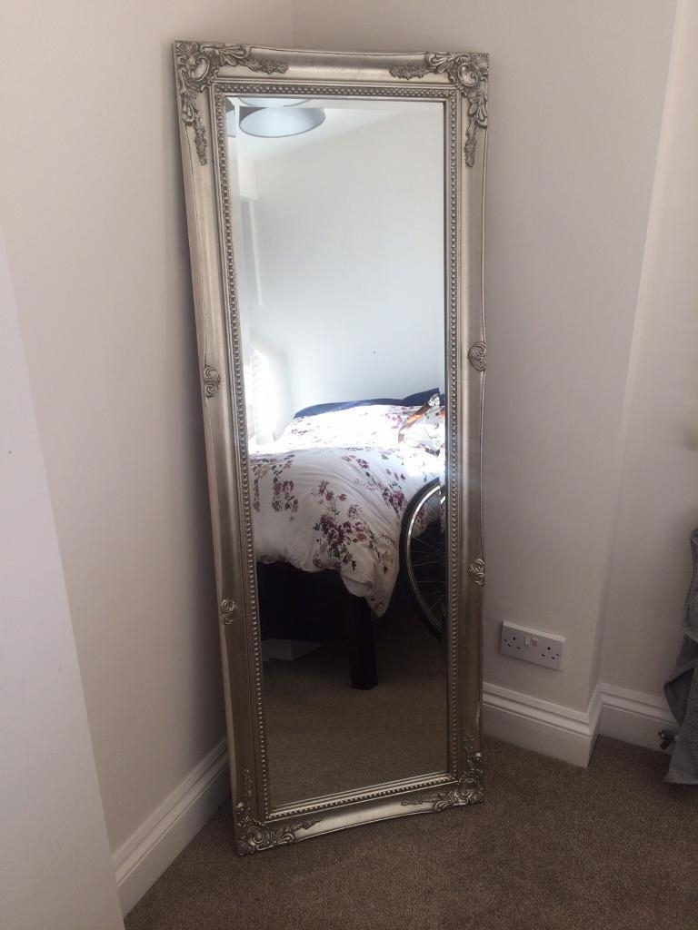 Beautiful Ornate Full Length Silver Mirror As New 75 Ono In Pertaining To Full Length Silver Mirror (Image 2 of 15)