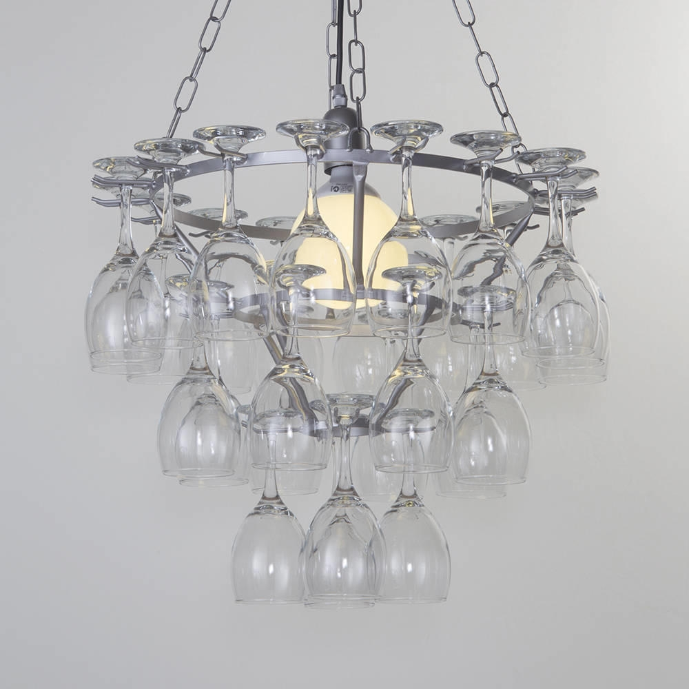 Beautiful Wine Glass Chandelier Inspiration Home Designs Regarding Glass Chandelier (Image 6 of 15)