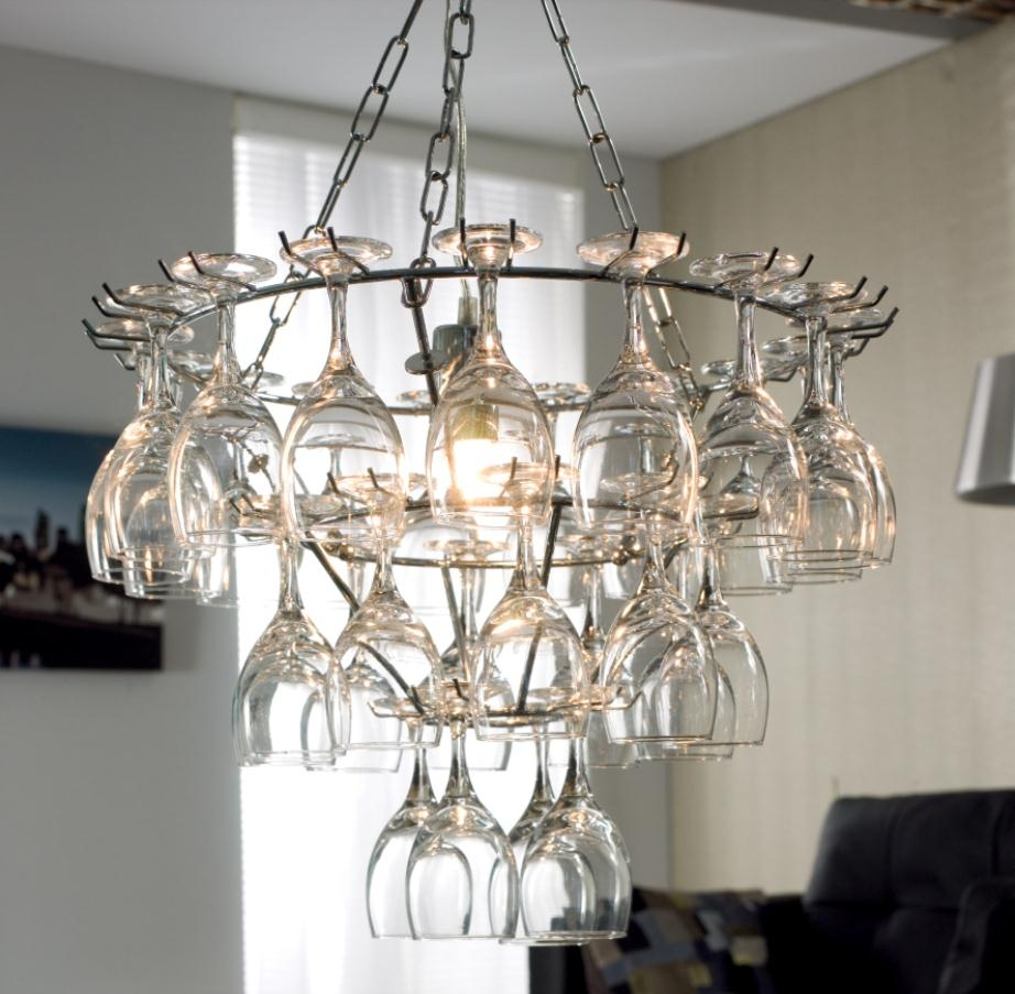 Beautiful Wine Glass Chandelier Inspiration Home Designs Regarding Glass Chandeliers (Image 4 of 15)