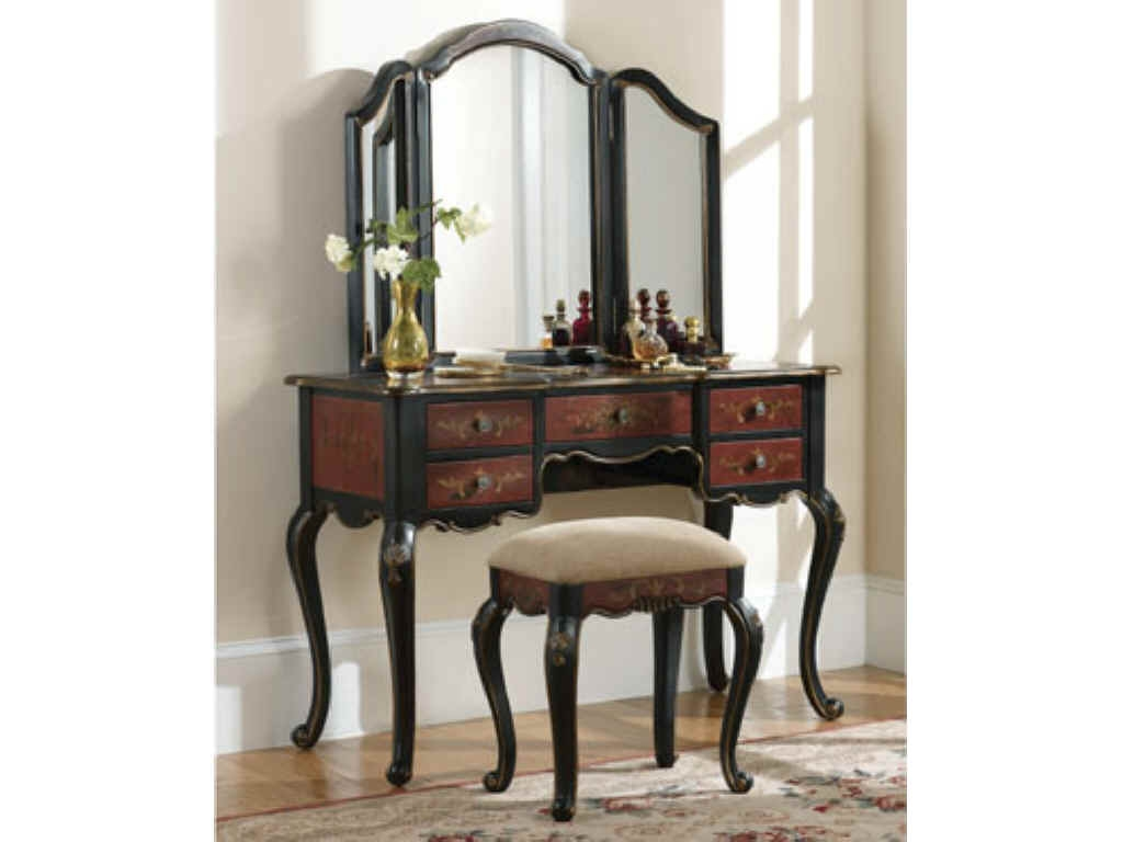 Bedroom Antique Small Bedroom Vanity Table With Storage And Intended For Antique Small Mirrors (Image 5 of 15)