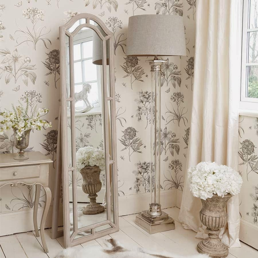 Bedroom Floor Lamps Ideas Cashorika Decoration In Shabby Chic Floor Standing Mirror (Image 2 of 15)