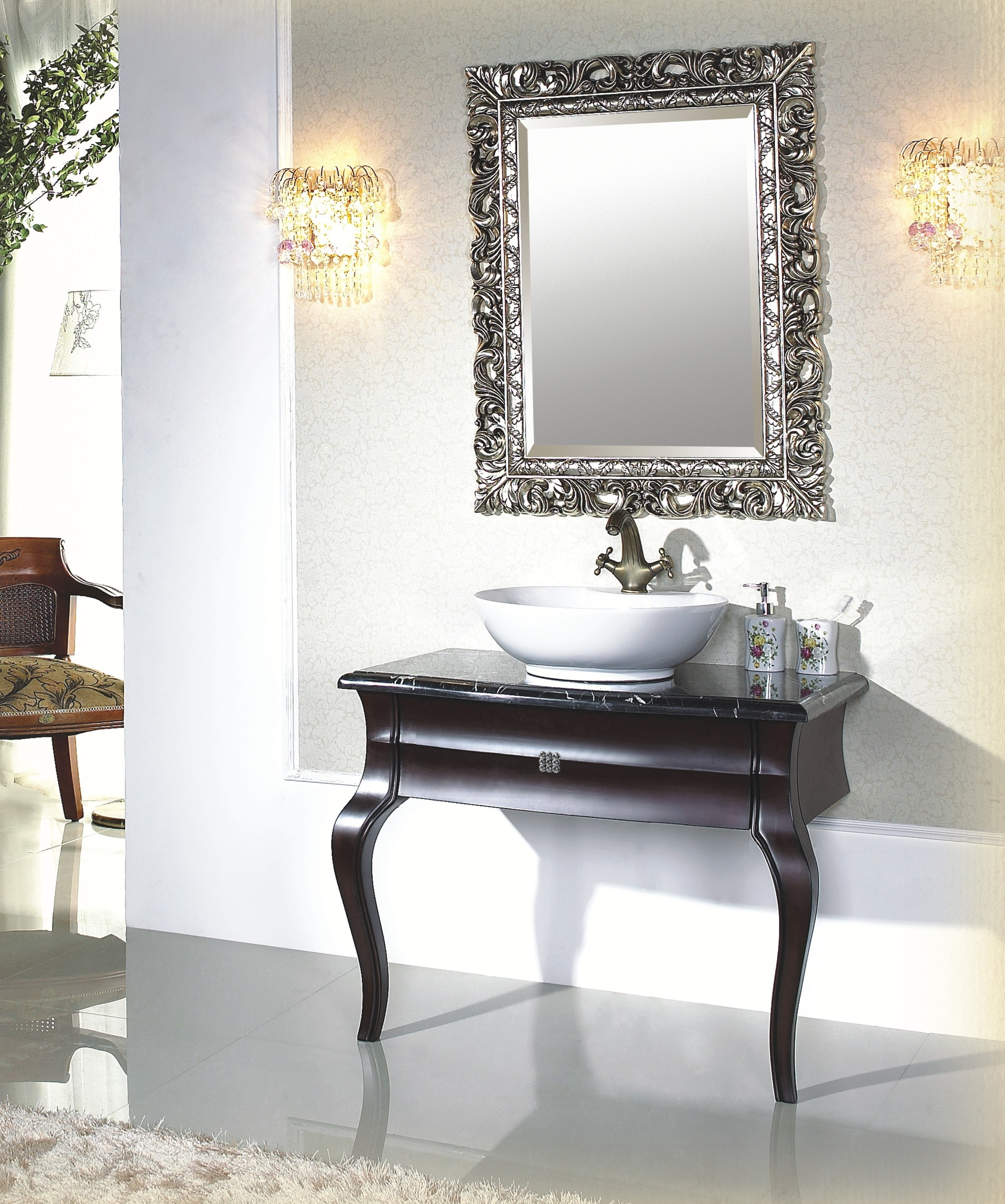 Bedroom Full Length Floor Mirror Decorative Mirrors Kirklands Pertaining To French Style Mirrors Cheap (Image 4 of 15)