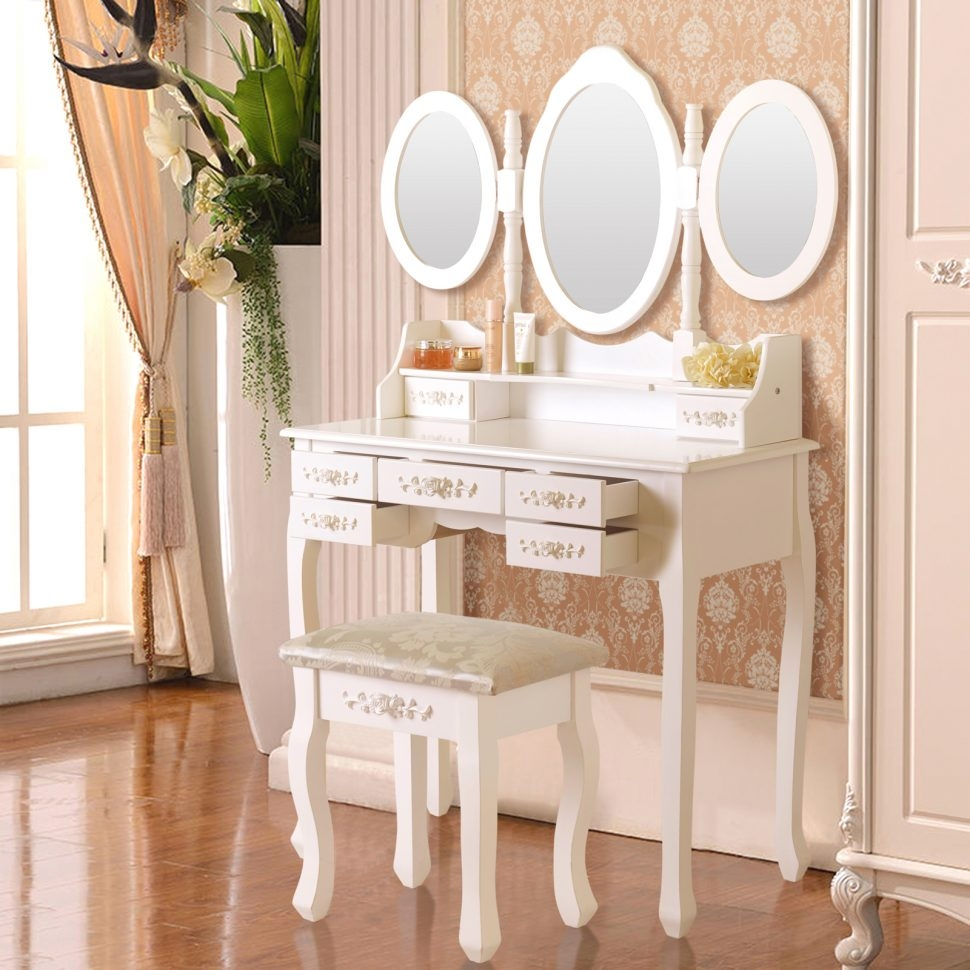 Bedroom Furniture Dressing Table Diy Small Table Mirror Table With Decorative Table Mirrors (Image 1 of 15)