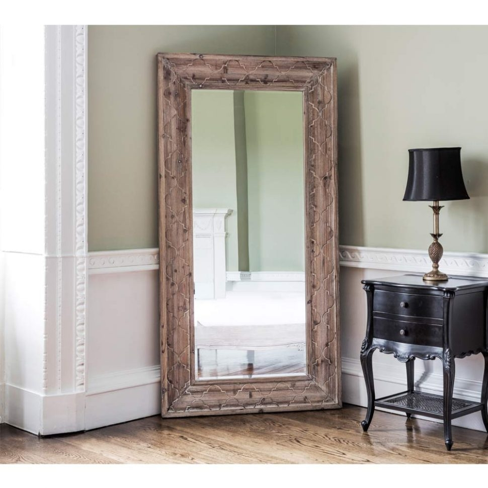 Bedroom Furniture Floor Mirror White Floor Mirror Shab Chic Regarding Shabby Chic Mirror With Shelf (Image 2 of 15)