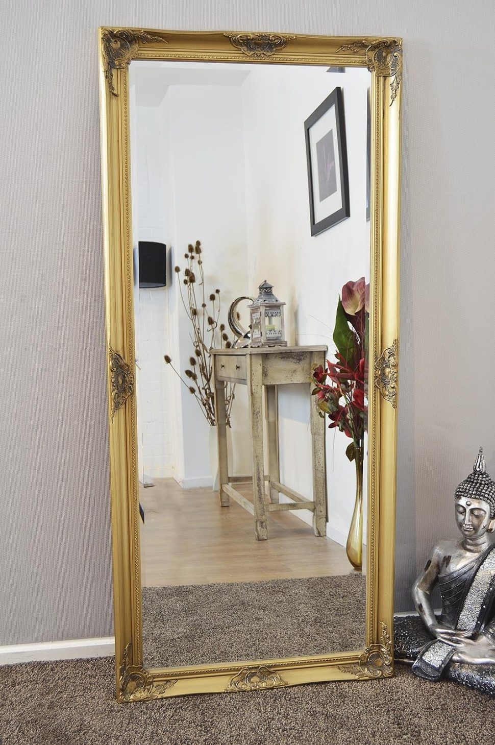 Bedroom Furniture Floor Mirror White Floor Mirror Shab Chic With Shabby Chic Floor Standing Mirror (Image 4 of 15)