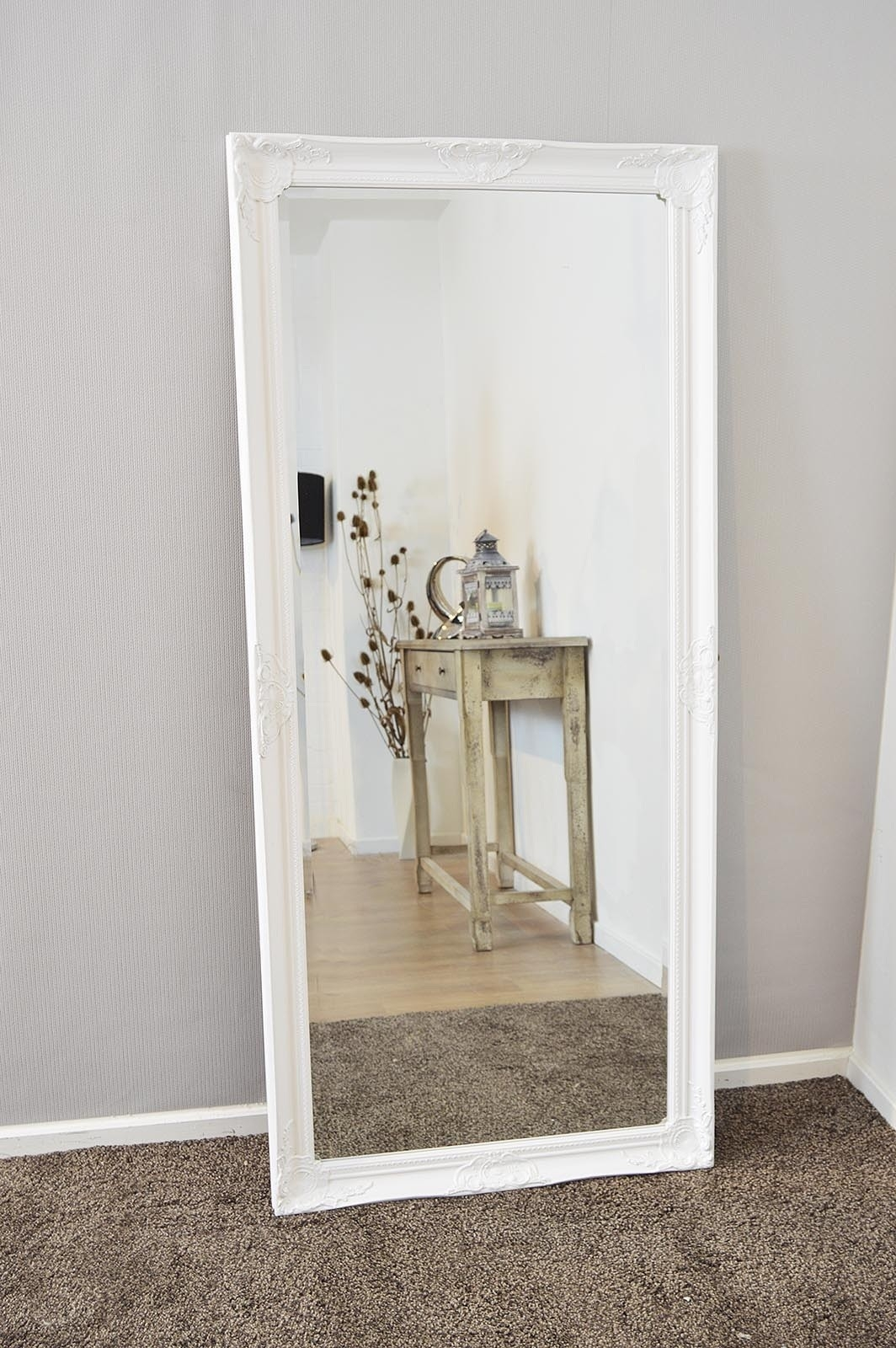 Bedroom Furniture Free Standing Mirror Wood Framed Mirrors Inside Free Standing Silver Mirror (Image 4 of 15)