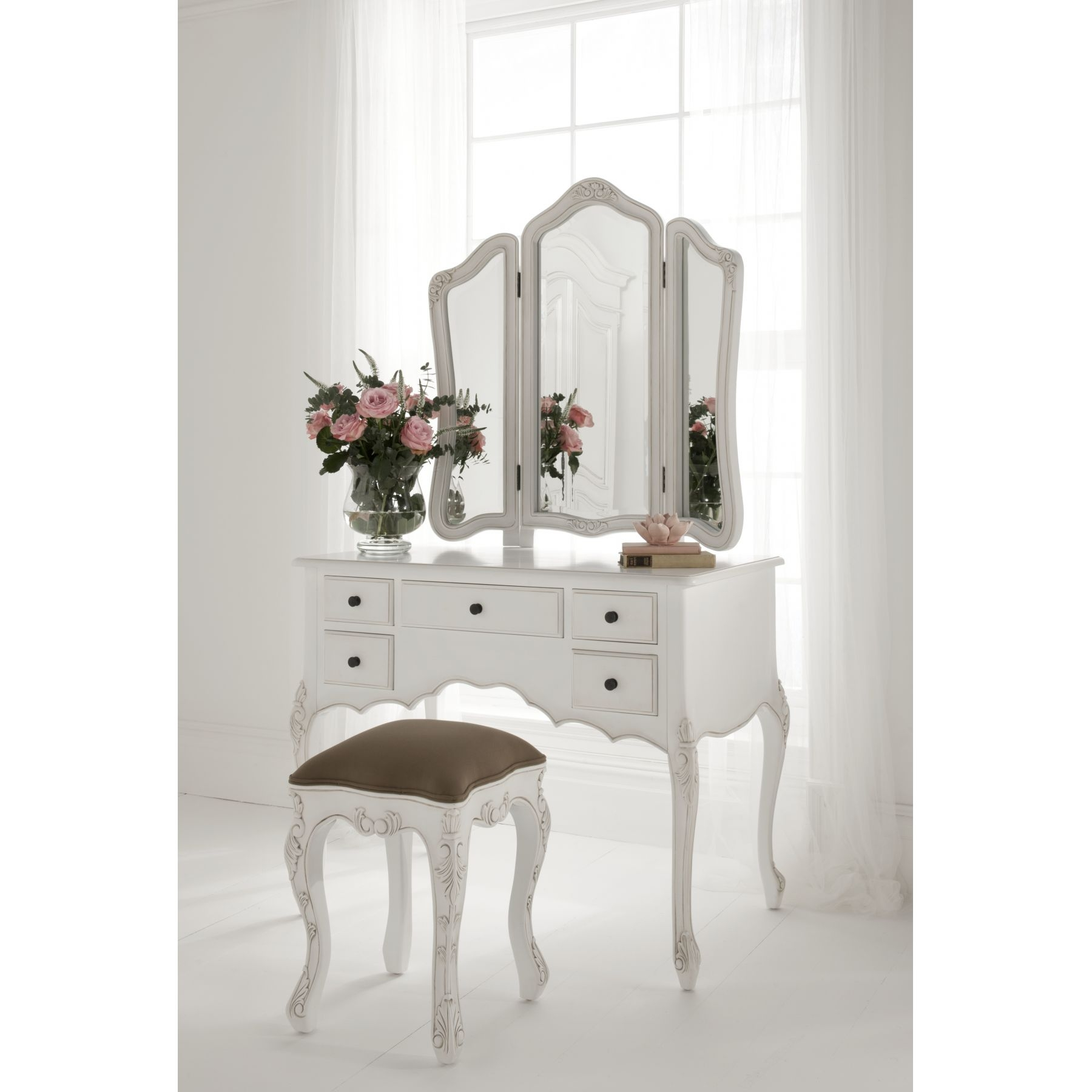 Bedroom Furniture Small Dressing Table French Dressing Table Intended For Small Table Mirror (Image 3 of 15)