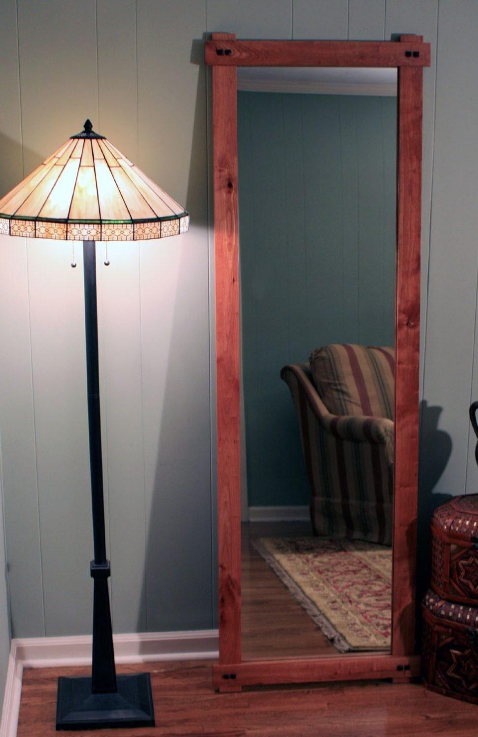 Bedroom Furniture Window Frame Mirror Full Length Mirror Leaner Regarding Decorative Full Length Mirror (Image 4 of 15)