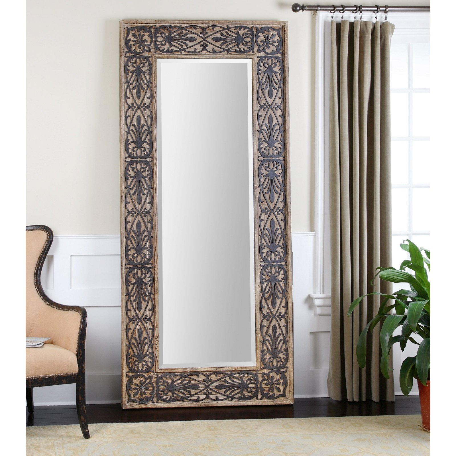 Bedroom Furniture Wood Framed Mirrors Leaner Mirror Gold Mirror With Regard To Decorative Full Length Mirror (Image 5 of 15)