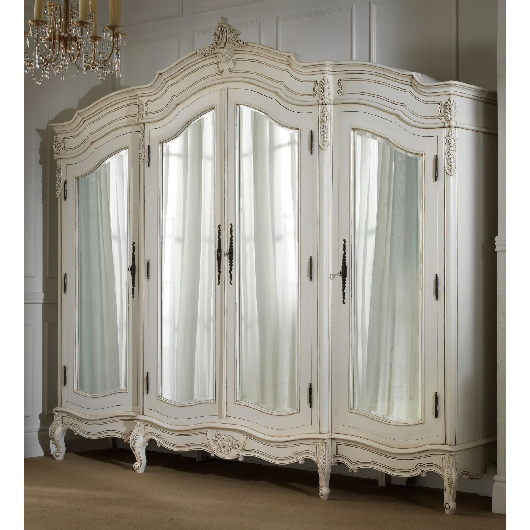 Bedroom Medium Antique White Sets Dark Hardwood Wall Expansive With Regard To Old French Mirrors (Image 8 of 15)