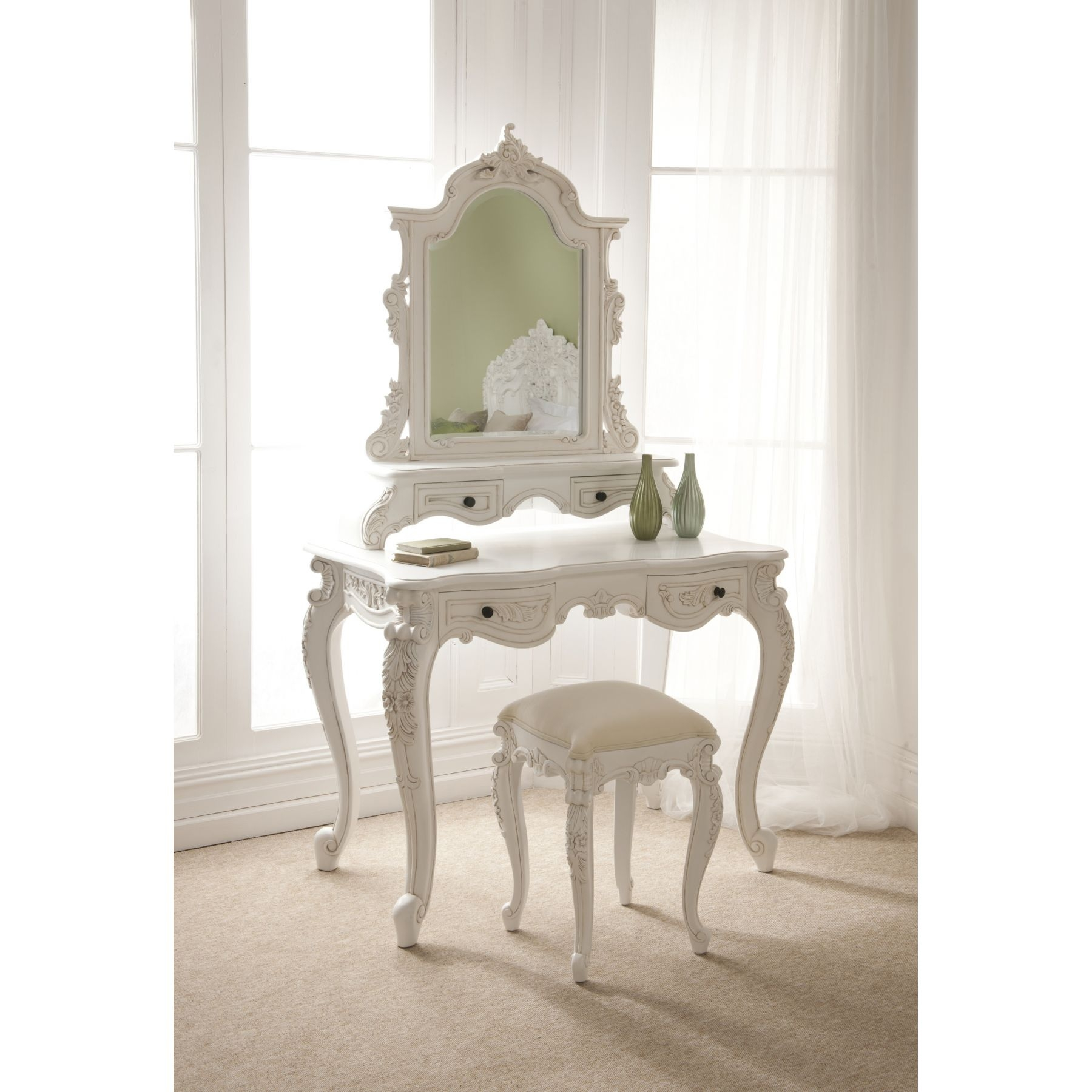 Bedroom Uncategorized French Style Dressing Table Mirror With 4 Inside French Style Dressing Table Mirror (Image 5 of 15)