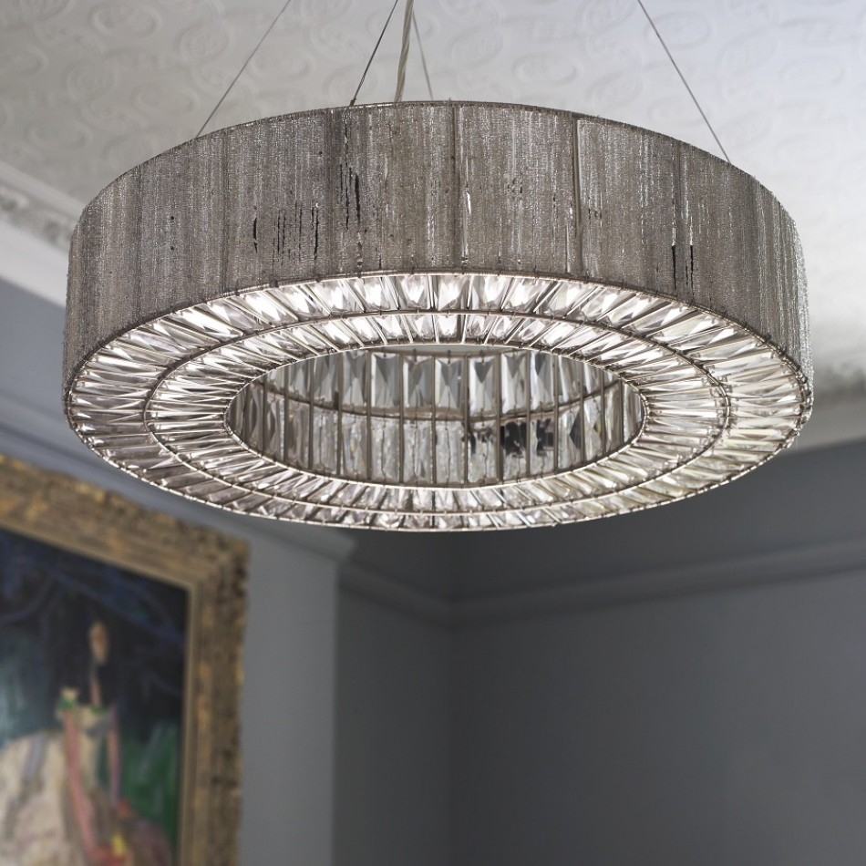 Bejeweled Silver Deco Inspired Beatrice Chandelier With Its Intended For Extra Large Modern Chandeliers (Image 3 of 15)