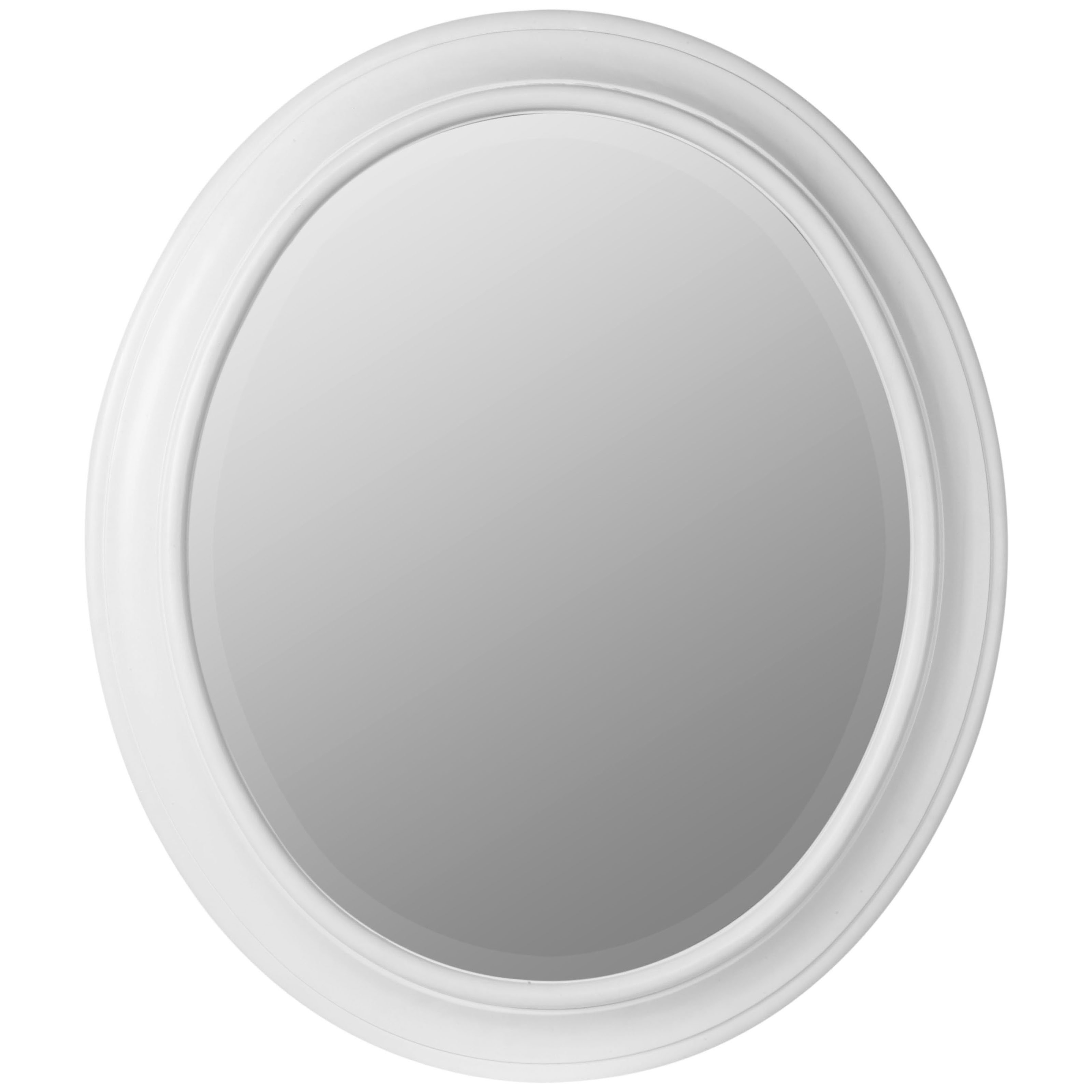 Belham Living Queen Anne Oval Wall Mirror Glossy White Mirrors Within White Oval Mirrors (Image 2 of 15)