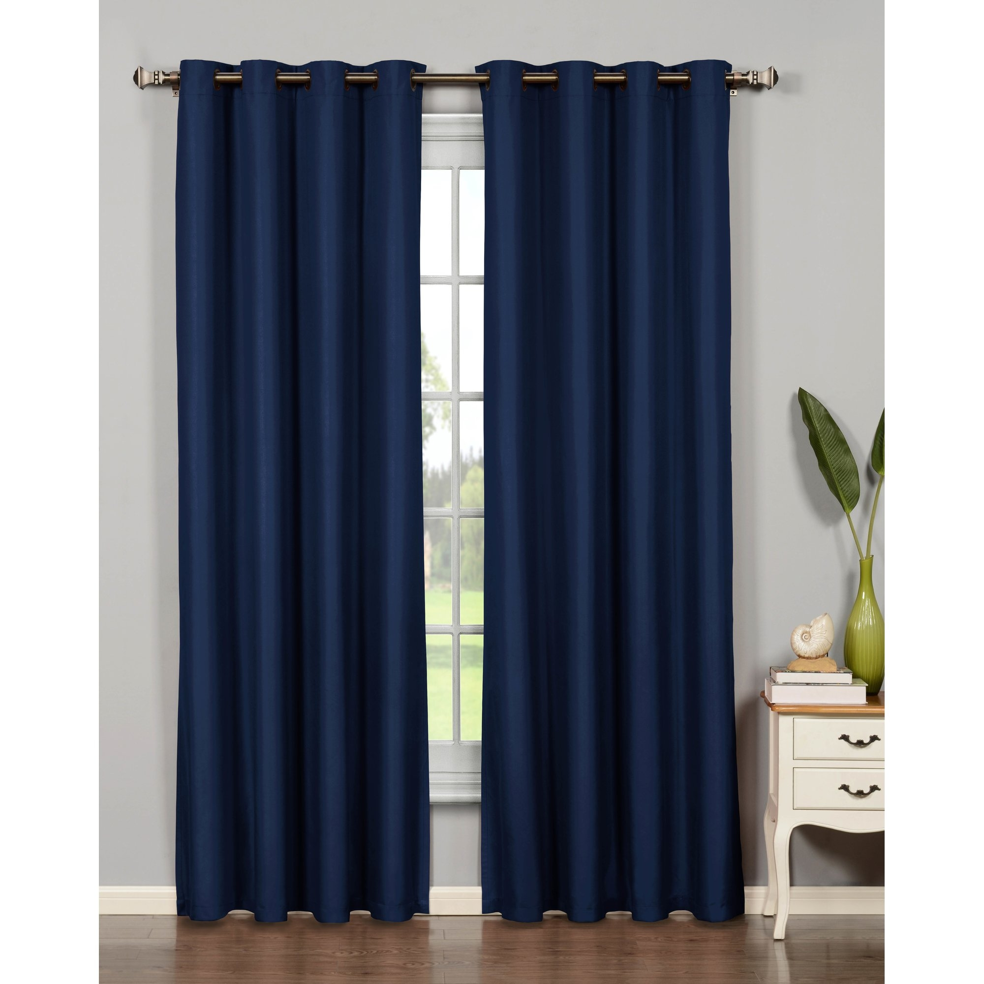 Bella Luna Emma Extra Wide Solid Room Darkening Thermal Grommet Pertaining To Extra Wide Thermal Curtains (Image 5 of 15)