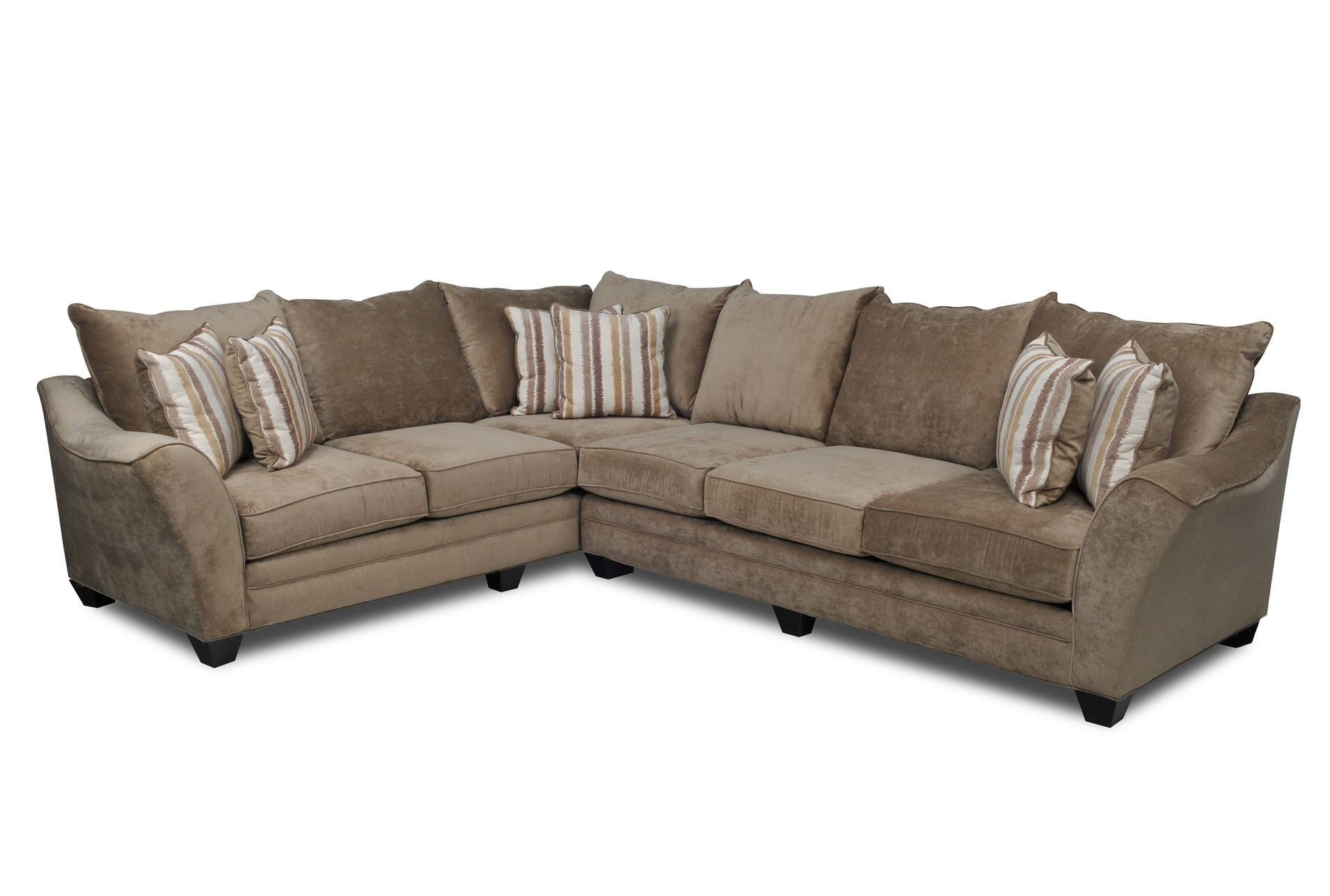 Belleview Taupe 2 Piece Sectional To Be Seasons And Beautiful Pertaining To Angled Chaise Sofa (Image 7 of 15)