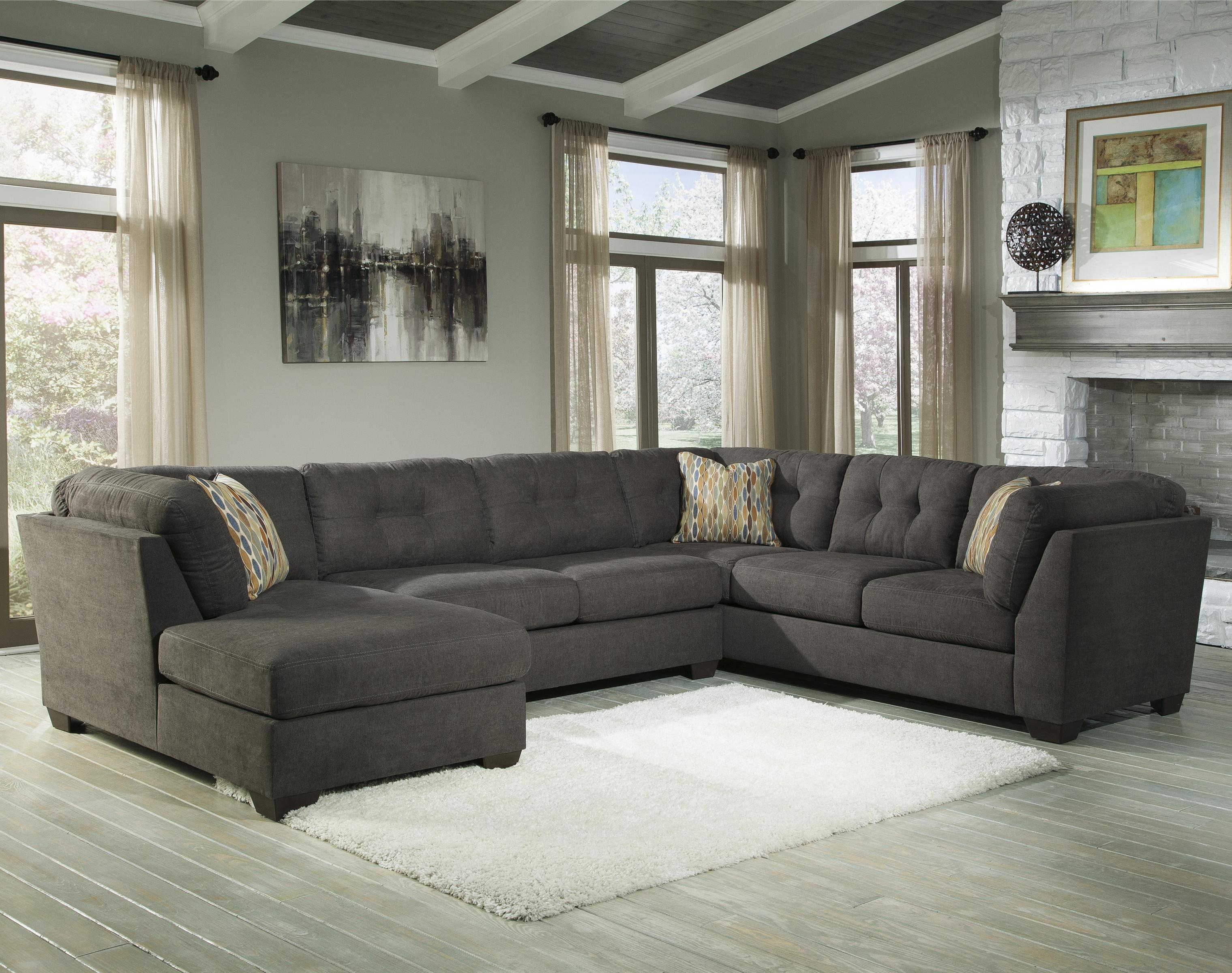 Benchcraft Delta City Steel 3 Piece Modular Sectional W Armless With 3 Piece Sectional Sleeper Sofa (Image 5 of 15)