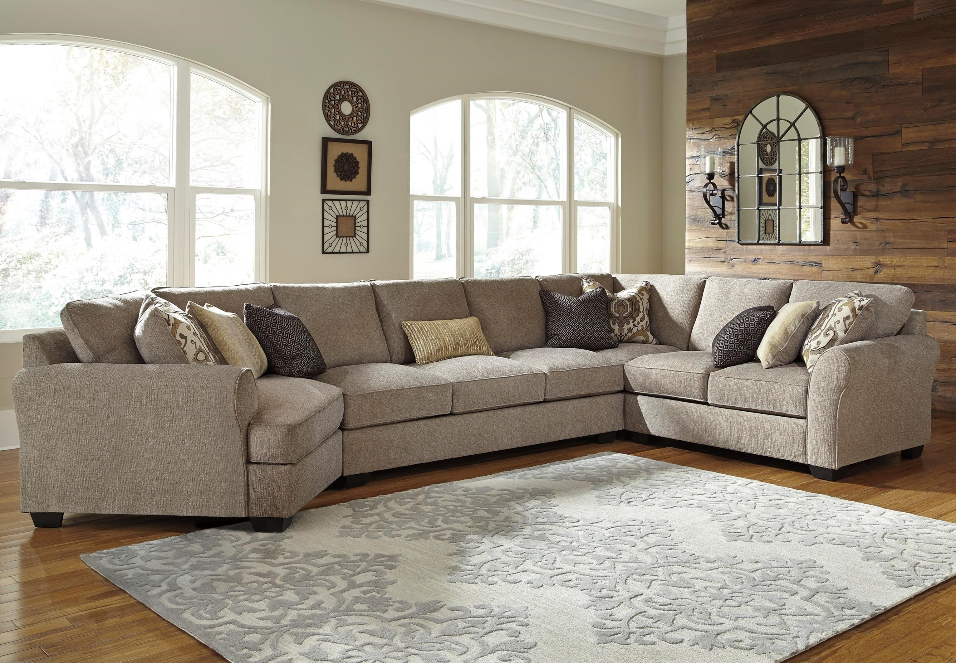 Benchcraft Pantomine 4 Piece Sectional With Left Cuddler Armless Pertaining To Cuddler Sectional Sofa (Image 2 of 15)