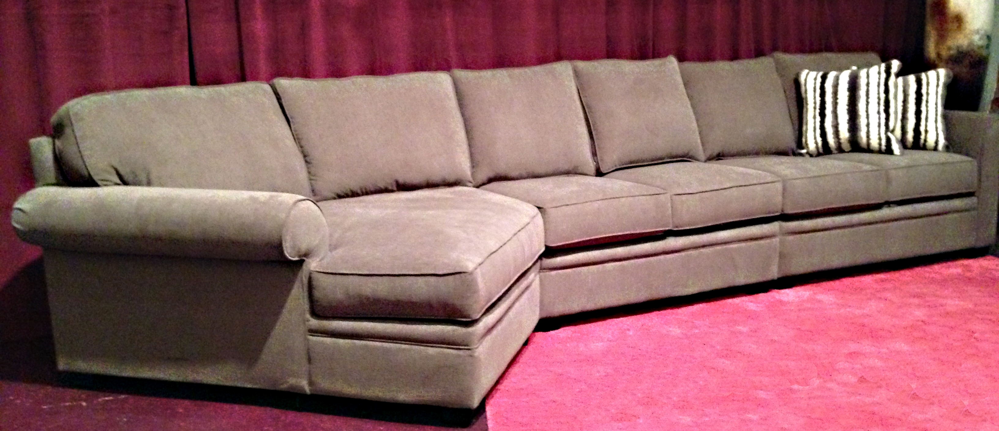 Berkley Sectional Customized Extra Long Sofa Plus Cuddler With Cuddler Sectional Sofa (Image 3 of 15)