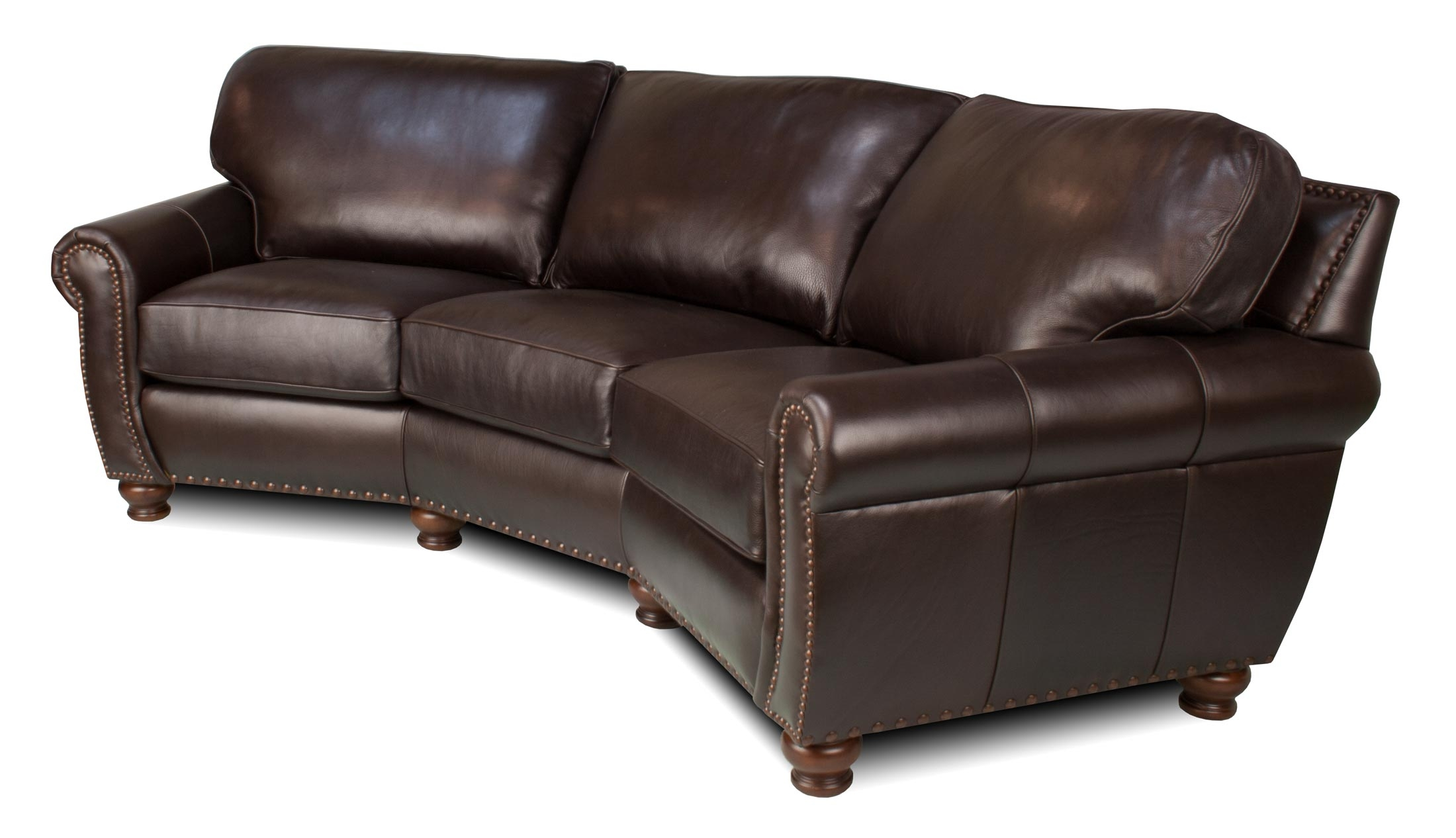 Berkshire Leather Sectional With Regard To Angled Sofa Sectional (Image 4 of 15)
