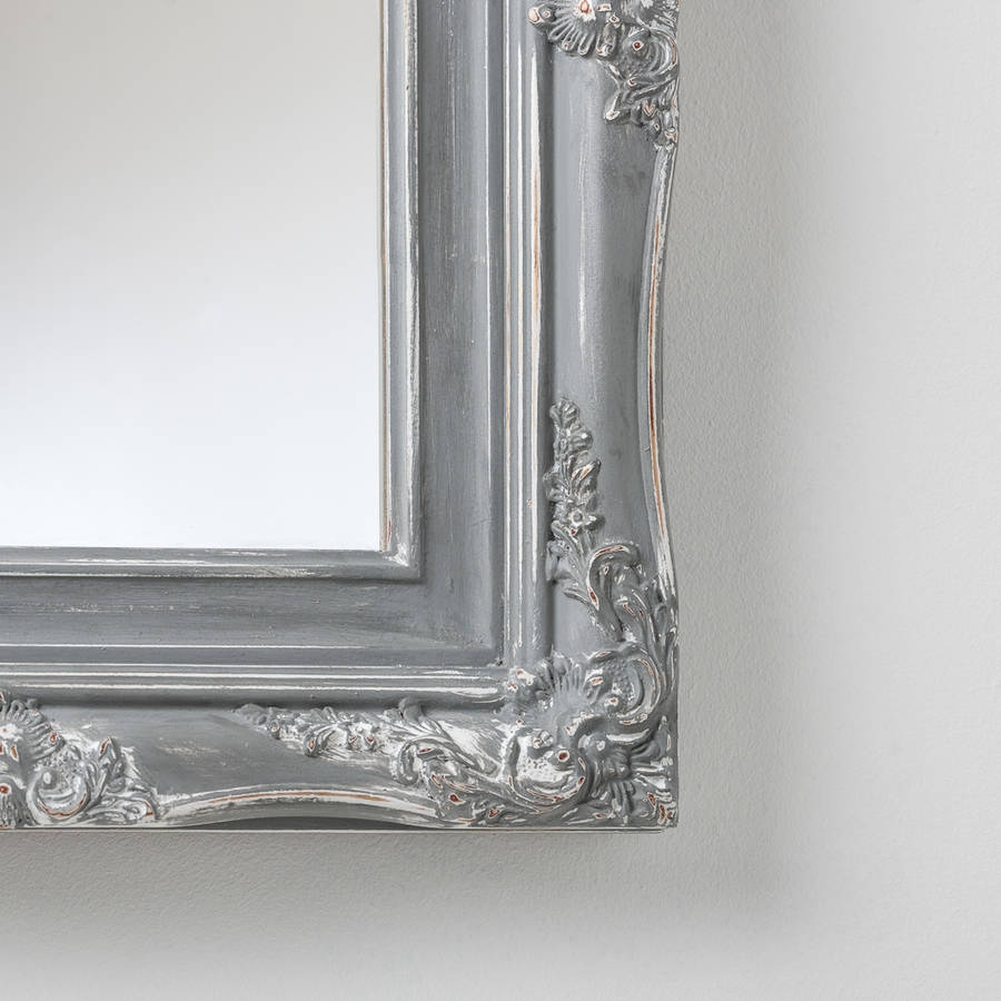 Bespoke Hand Painted Mirror In Farrow And Ball Paints Hand Within Grey Vintage Mirror (Image 3 of 15)
