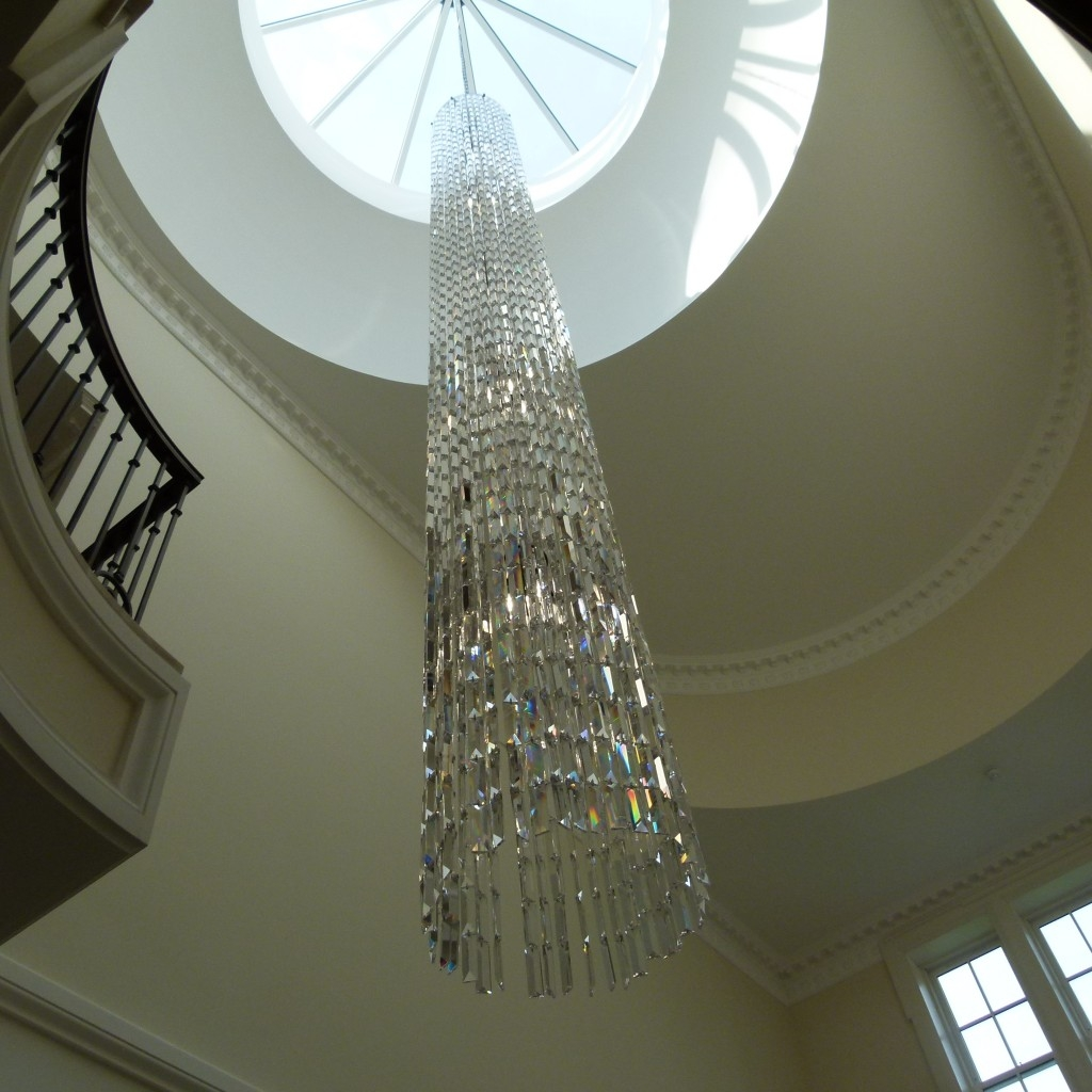 Bespoke Stairwell Chandelier More Pics The Lighting Centre Throughout Stairwell Chandelier (Image 4 of 15)
