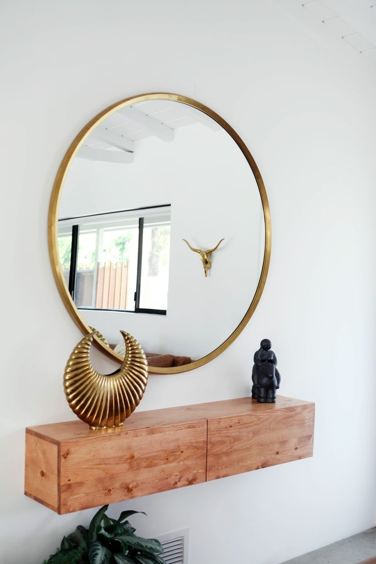 Best 20 Large Round Mirror Ideas On Pinterest Pertaining To Large Circle Mirrors (Image 3 of 15)
