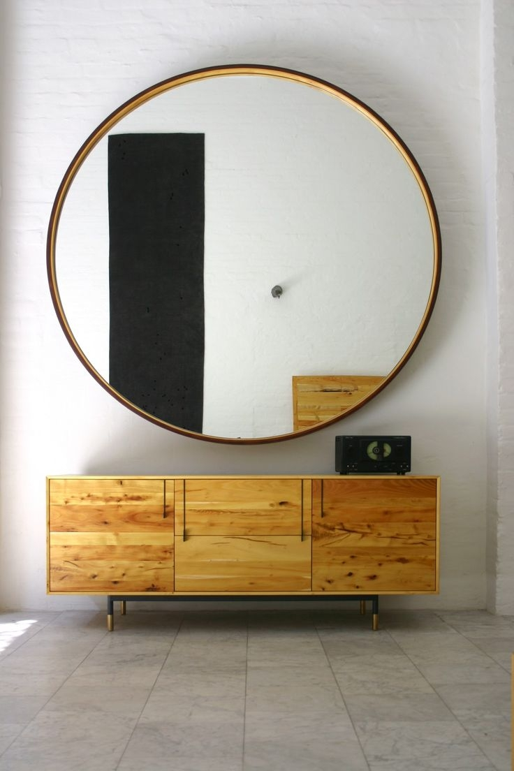 Best 20 Large Round Mirror Ideas On Pinterest Within Large Leather Mirror (Image 3 of 15)