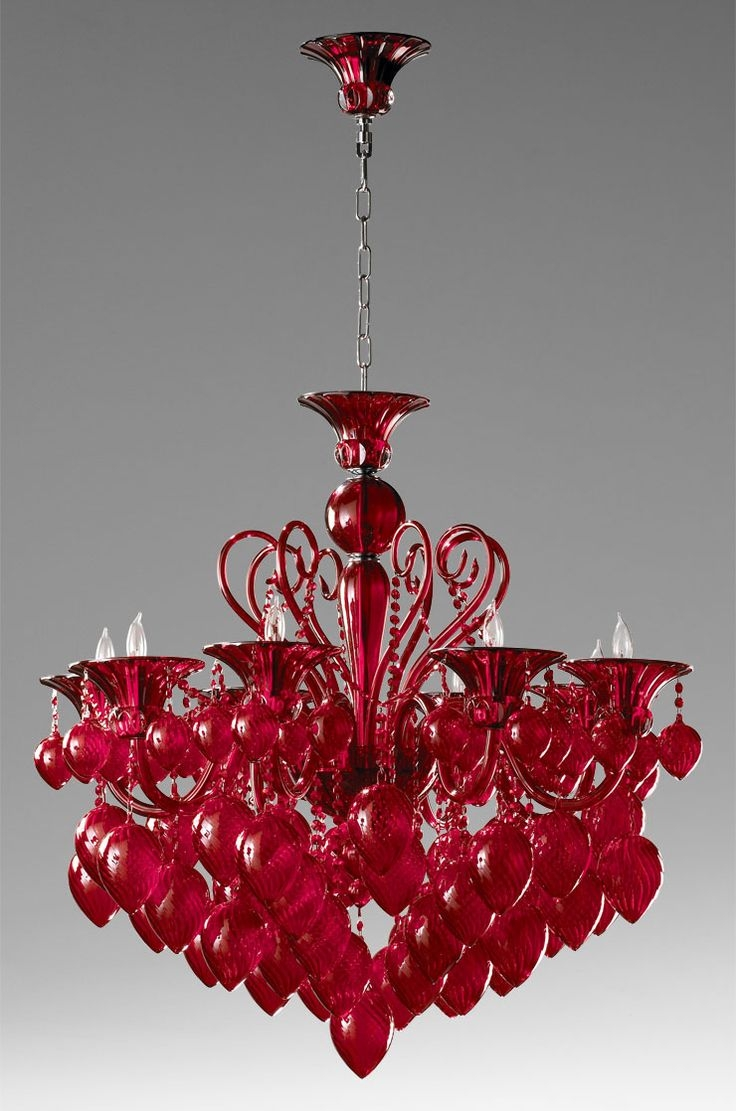 Best 20 Red Chandelier Ideas On Pinterest Red Lamps Red Lamp With Regard To Modern Red Chandelier (Image 3 of 15)