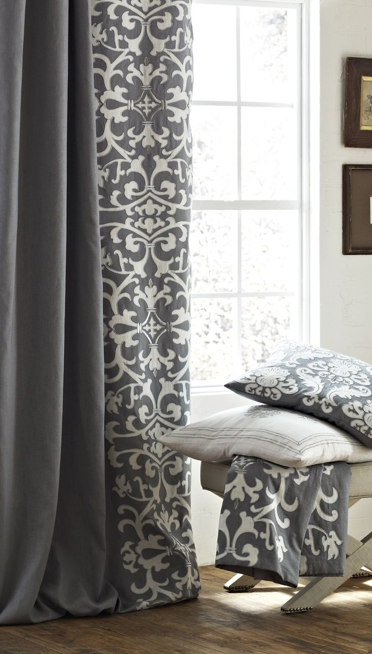 Best 25 Gray Curtains Ideas On Pinterest Grey Patterned Regarding Thick Grey Curtains (Image 2 of 15)