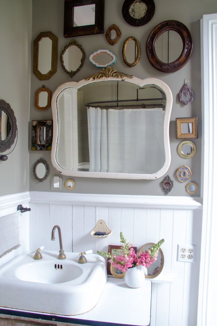 Best 25 Vintage Bathroom Mirrors Ideas On Pinterest Regarding Vintage Mirrors For Bathrooms (Image 3 of 15)