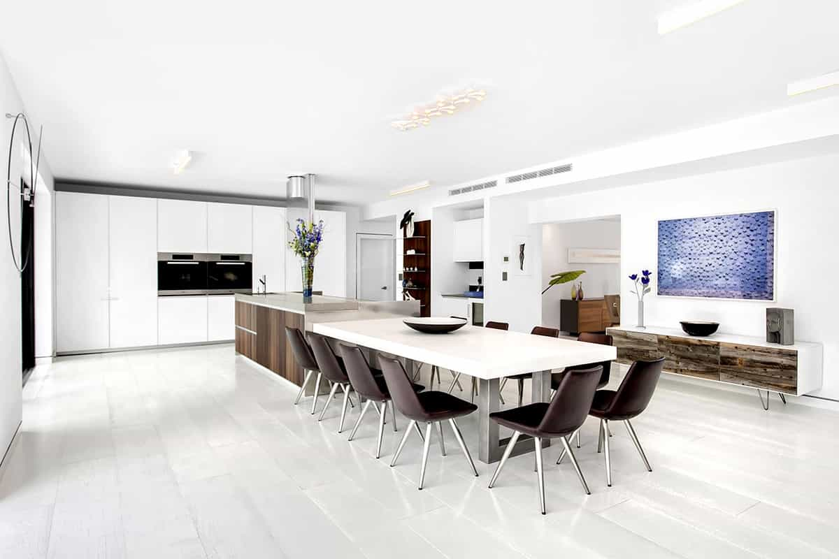 Best Fitted Kitchen And Dining Room In Modern Luxury Interior (Image 1 of 15)