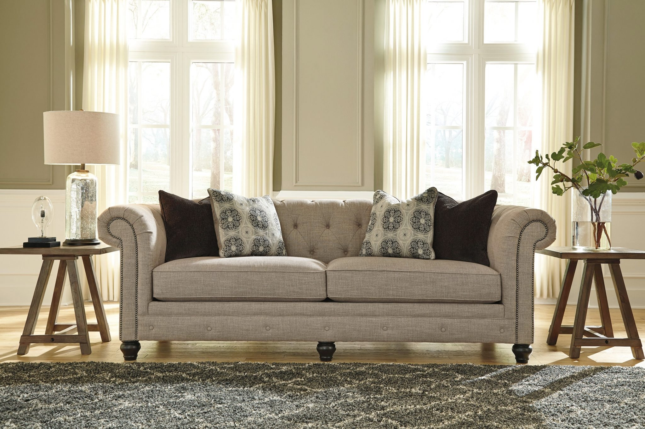 Featured Image of Ashley Tufted Sofa