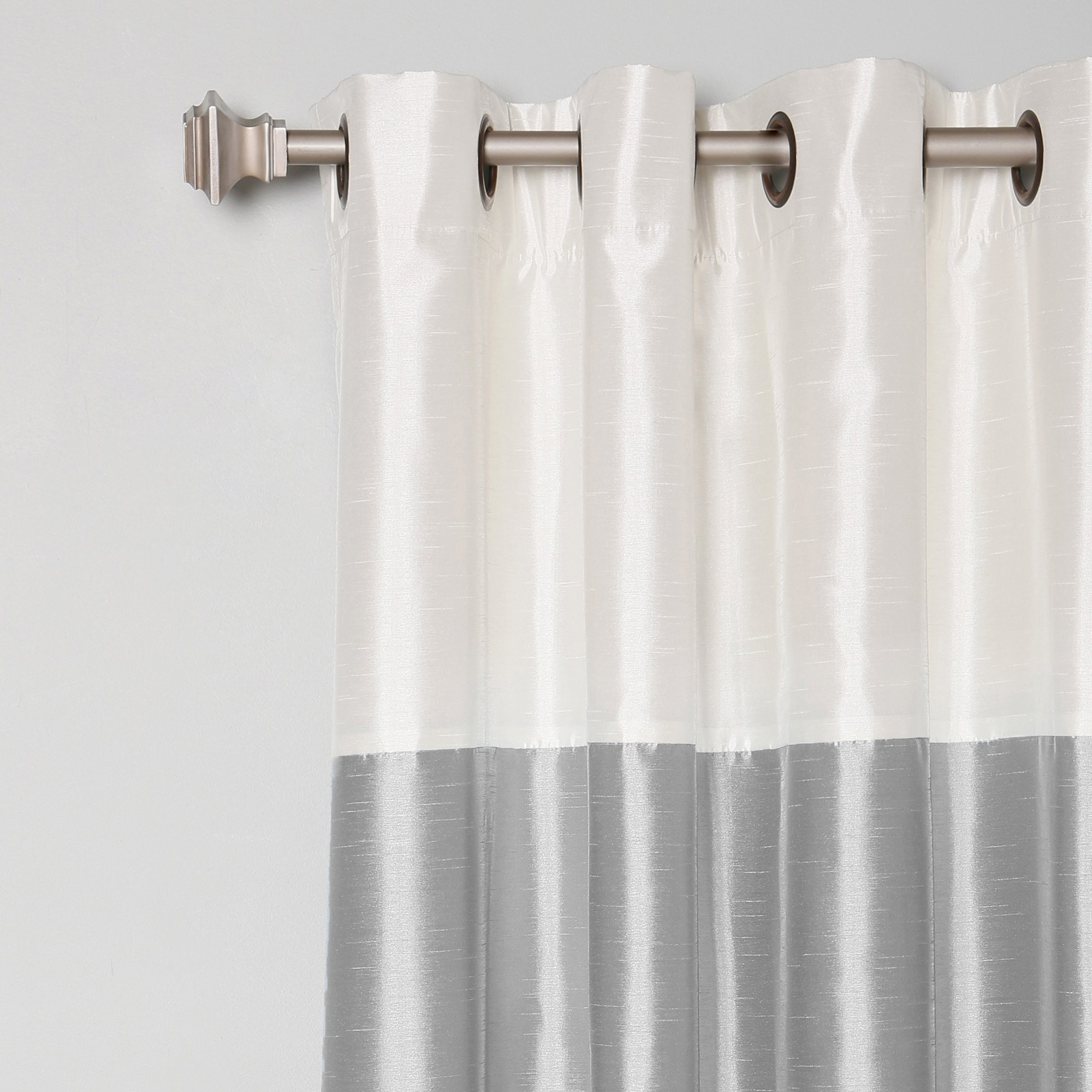 Best Home Fashion Inc Grommet Striped Blackout Thermal Curtain Throughout Striped Thermal Curtains (Image 4 of 15)