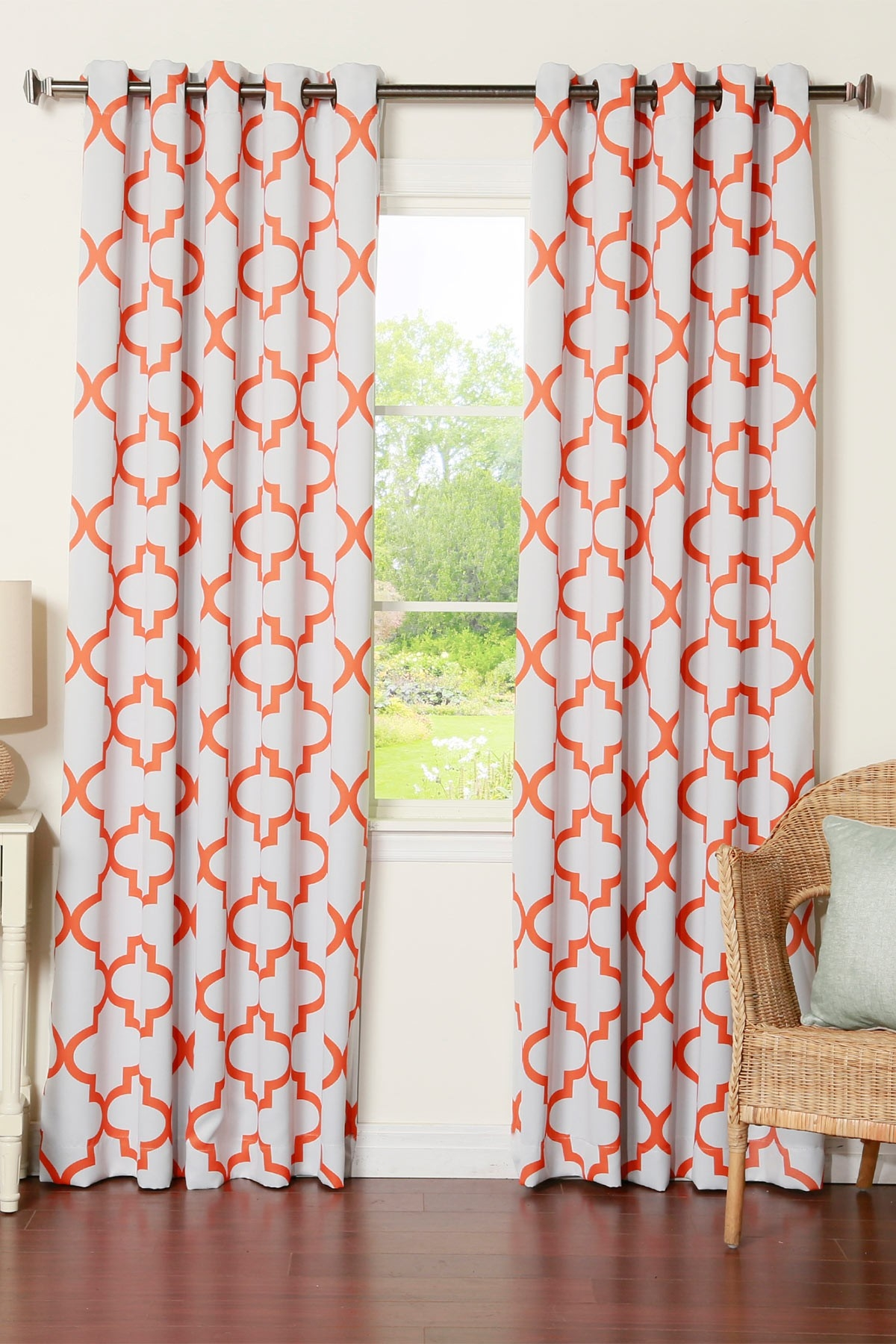 Best Home Fashion Inc Reverse Moroccan Tile Printed Room With Regard To Moroccan Tile Curtains (Image 5 of 15)