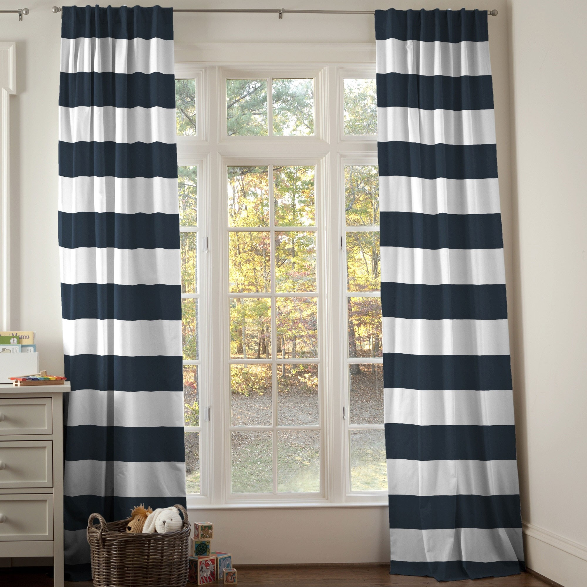 Best Ideas About Horizontal Striped Curtains On Pinterestation With Regard To Striped Door Curtain (Image 3 of 15)