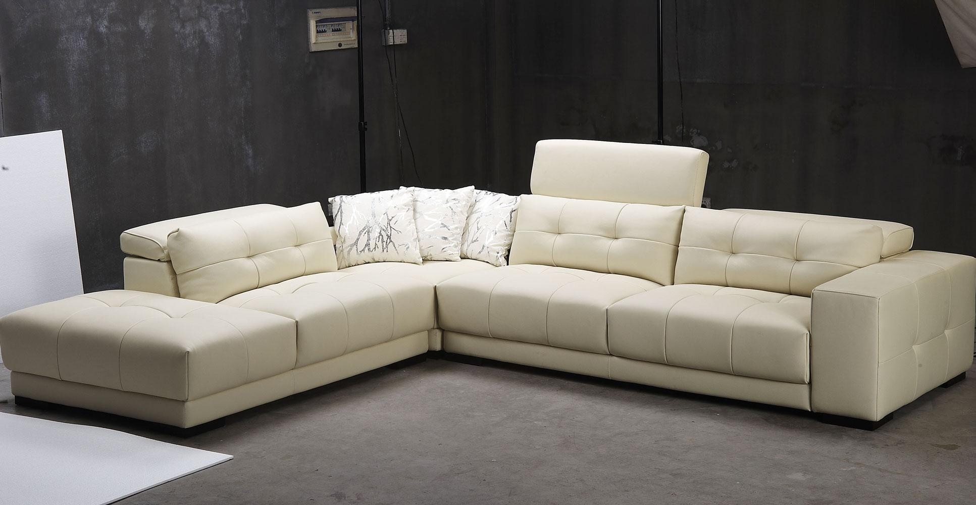 Best Modern 3 Piece White Leather Sectional Sleeper Sofa With Regarding 3 Piece Sectional Sleeper Sofa (Image 7 of 15)