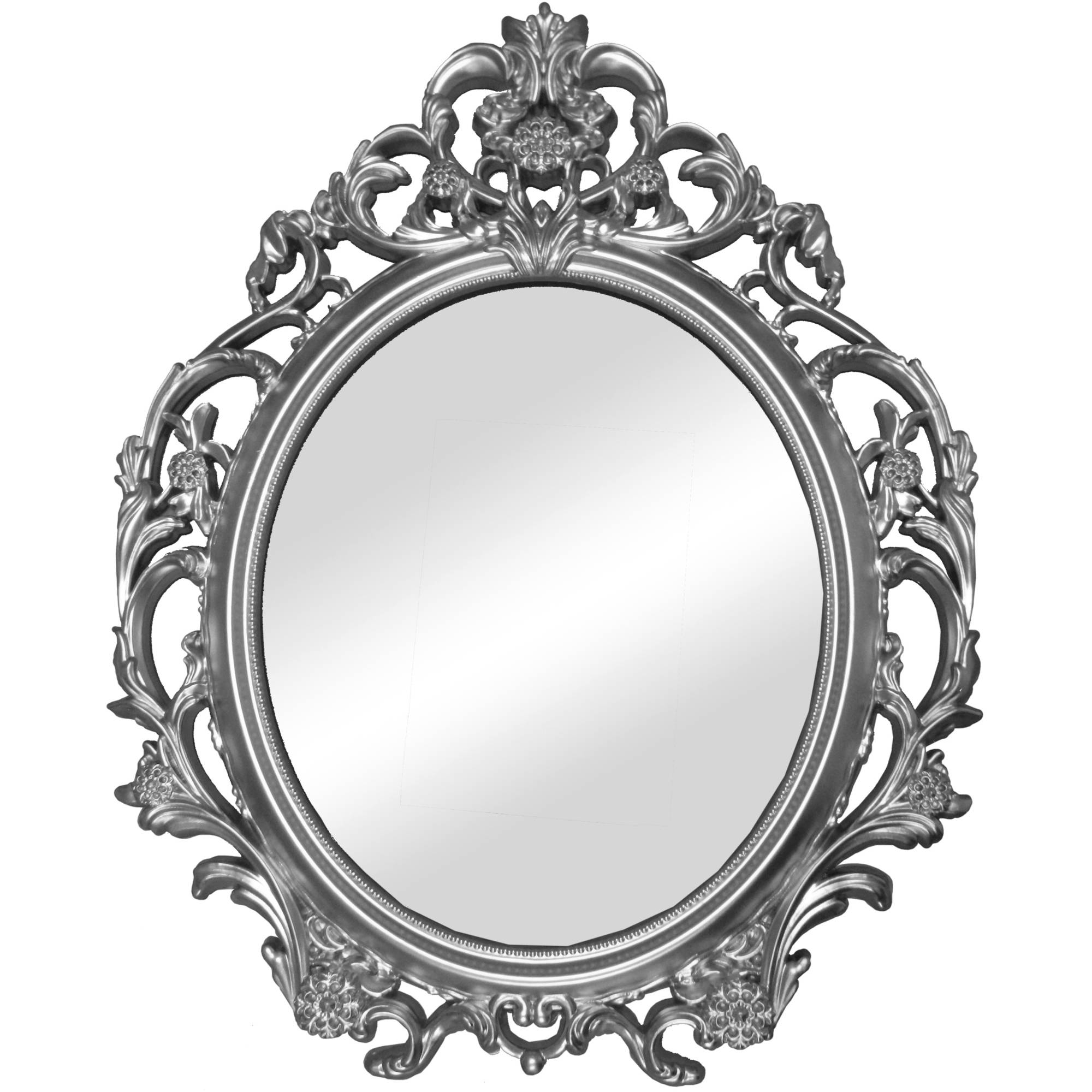 Better Homes And Gardens Baroque Wall Mirror Walmart In White Baroque Wall Mirror (Image 3 of 15)