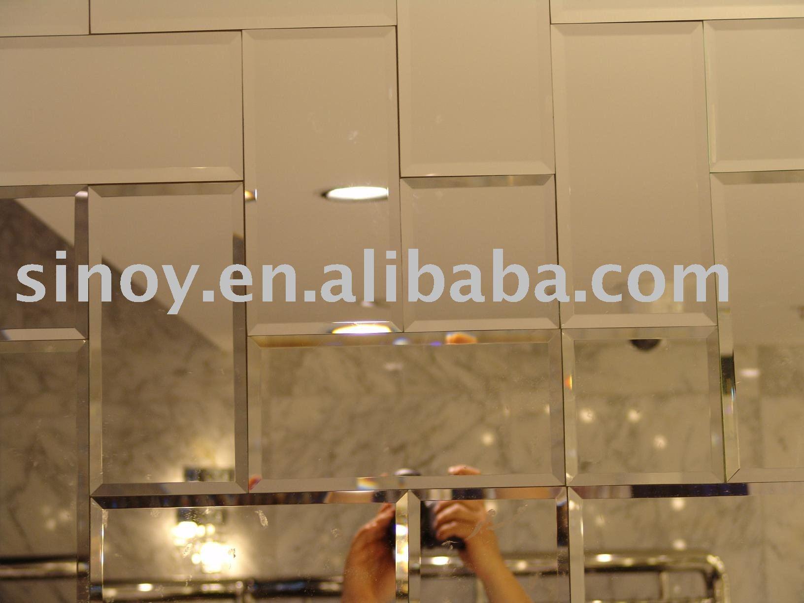 Beveled Bathroom Mirror Tiles 125125mm Buy Beveled Mirror Tiles Regarding Bevel Mirror (Image 3 of 15)